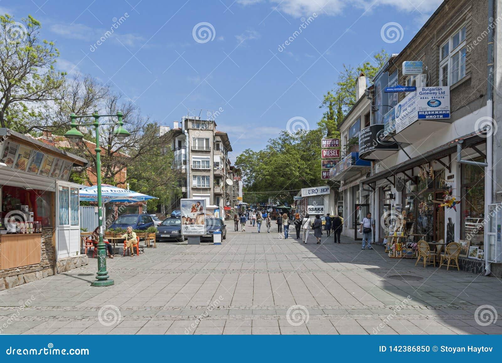 Χαρακτηριστική οδός και ενσωμάτωση του κέντρου της πόλης Burgas, Βουλγαρία