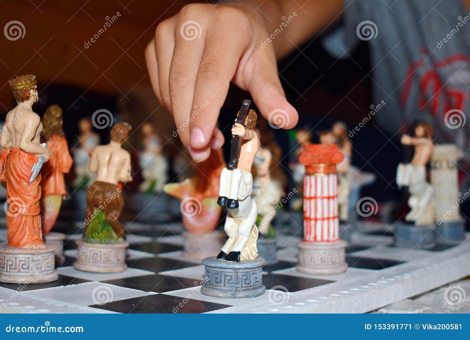 Χαρασμένο λογαριασμένο σκάκι παιχνιδιών