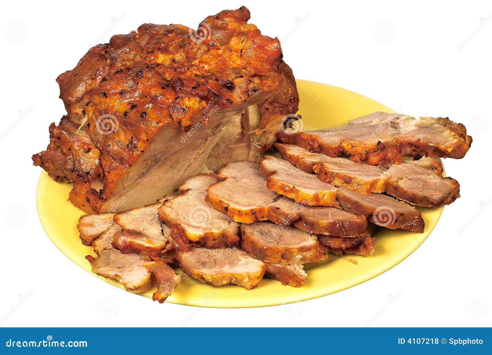 χαρασμένο roast χοιρινού κρέατ&om