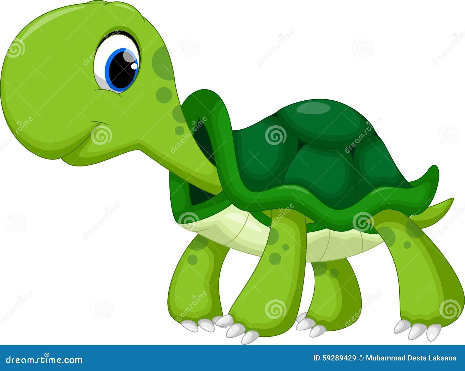 Χαριτωμένα κινούμενα σχέδια χελωνών