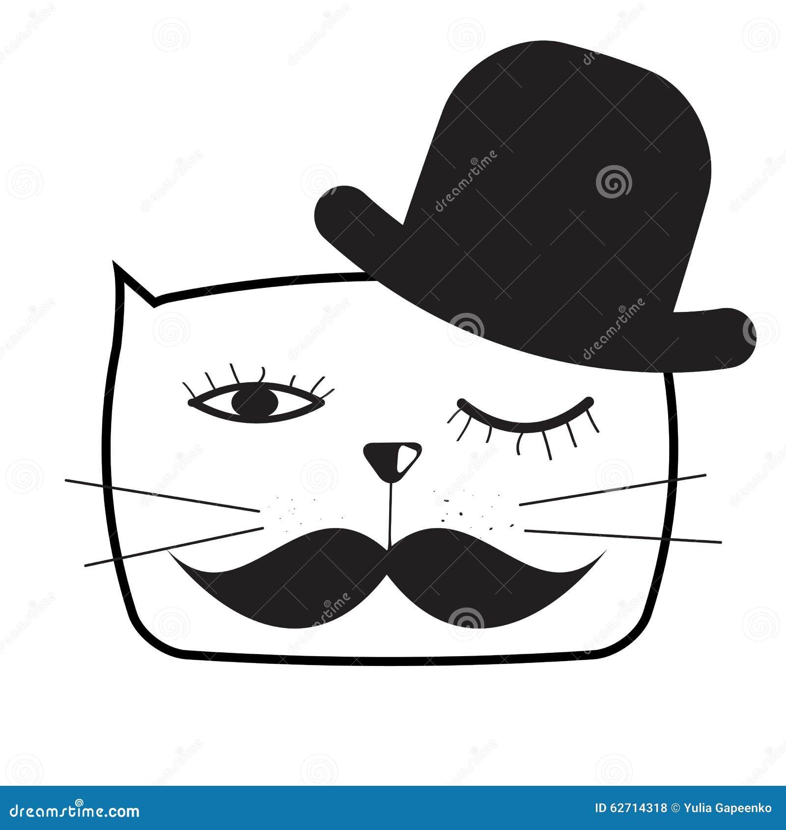 Χαριτωμένη Handdrawn διανυσματική απεικόνιση γατών