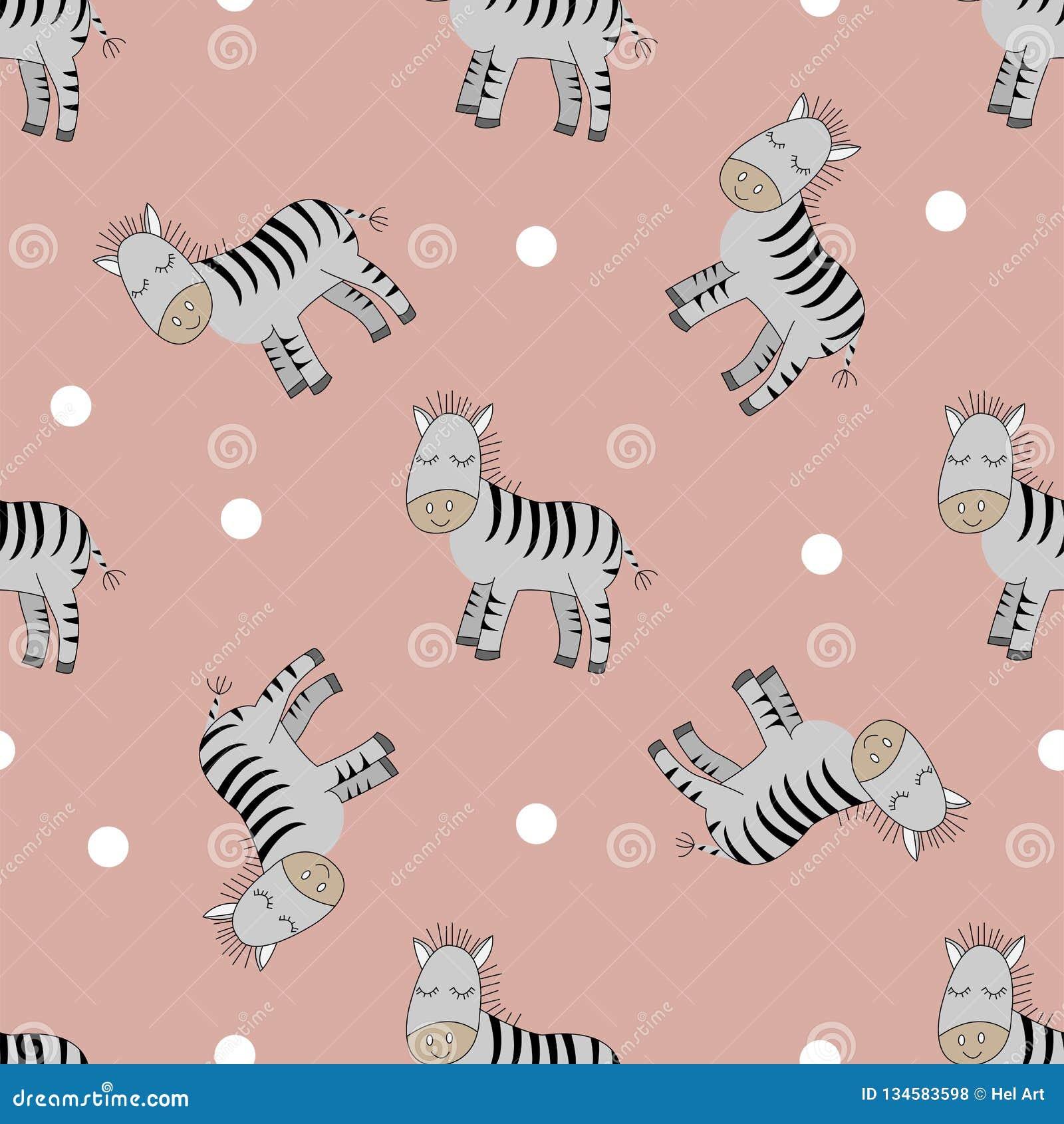 Χαριτωμένος άνευ ραφής patern Zebras