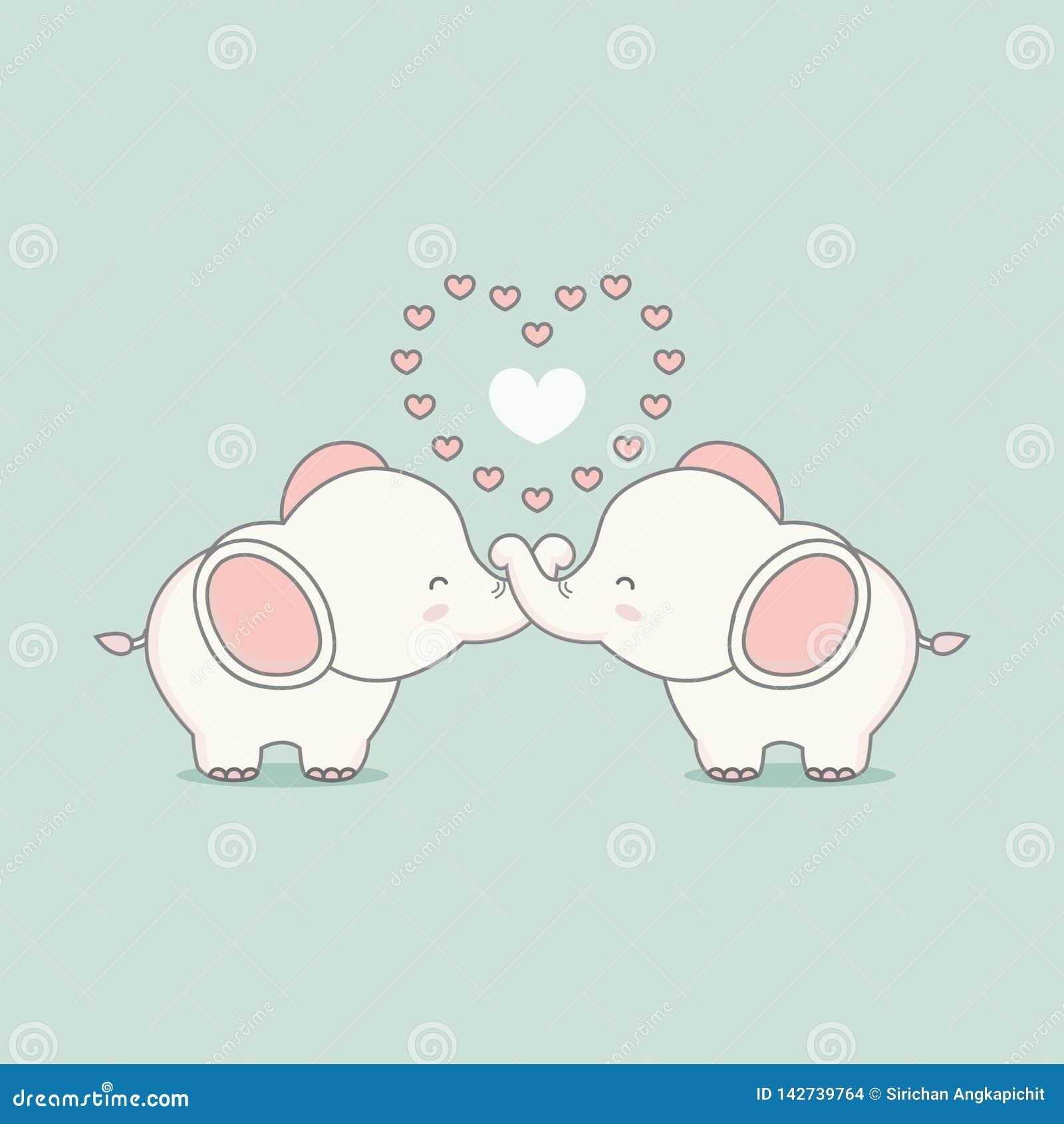 Χαριτωμένος ρόδινος ελέφαντας ερωτευμένος με τις καρδιές διαθέσιμο διάνυσμα βαλεντίνων αρχείων ημέρας καρτών