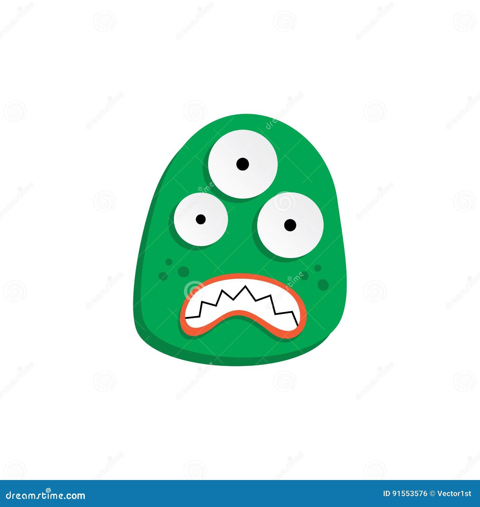χαριτωμένο λατρευτό άσχημο τρομακτικό αστείο τέρας μασκότ
