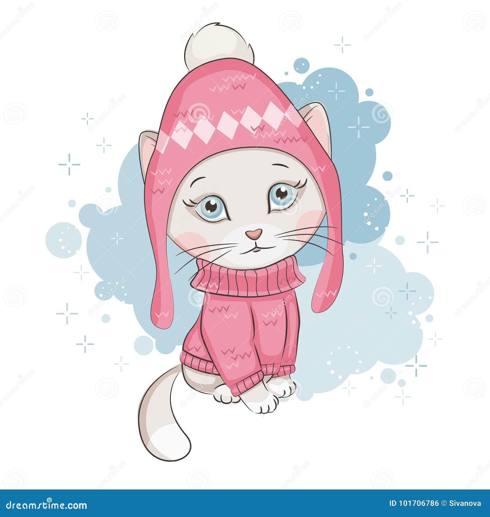 χαριτωμένο γατάκι λίγα