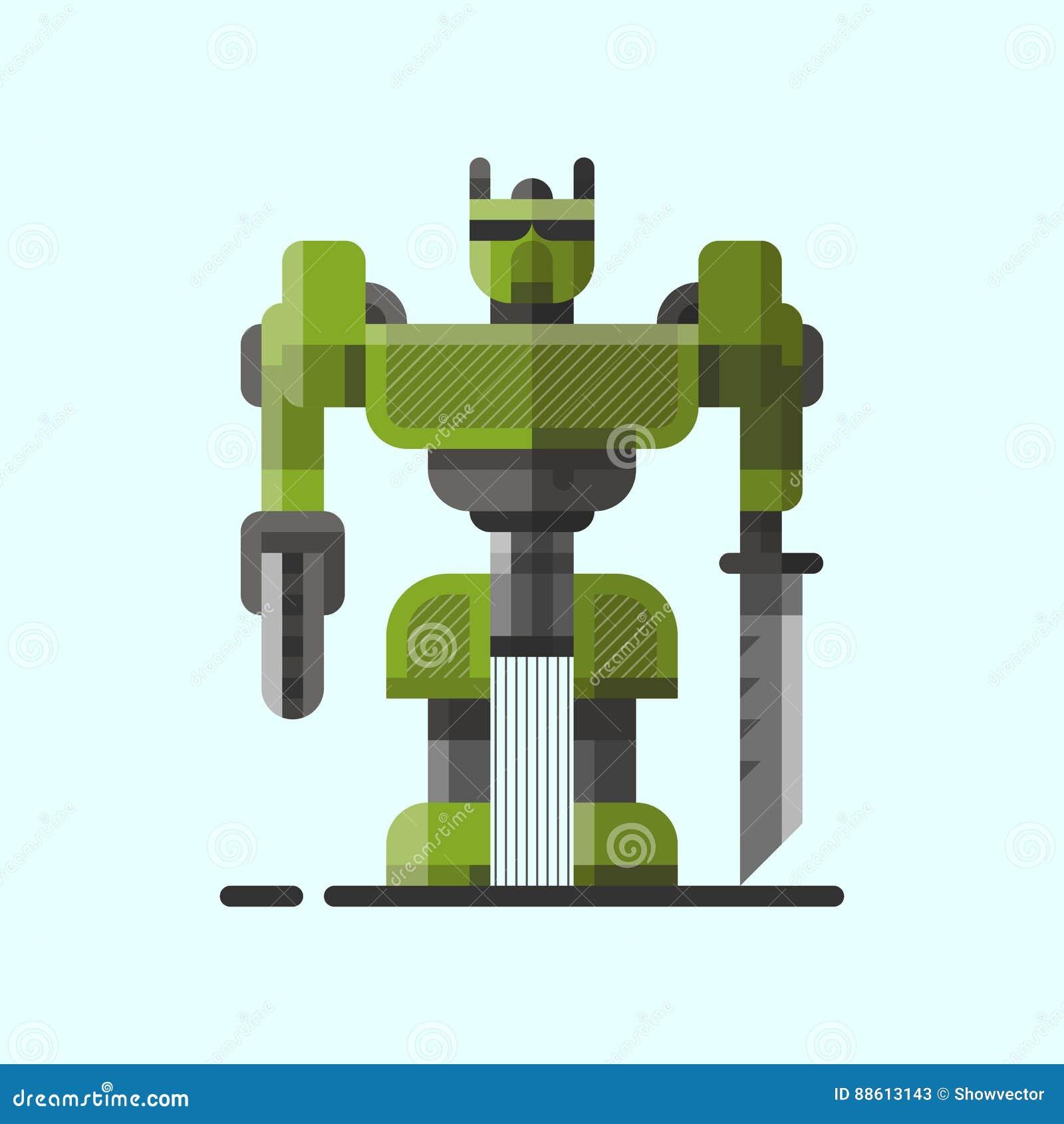 Χαριτωμένο εκλεκτής ποιότητας ρομπότ τεχνολογίας παιχνίδι επιστήμης μηχανών μελλοντικό και cyborg φουτουριστικός χαρακτήρας εικον