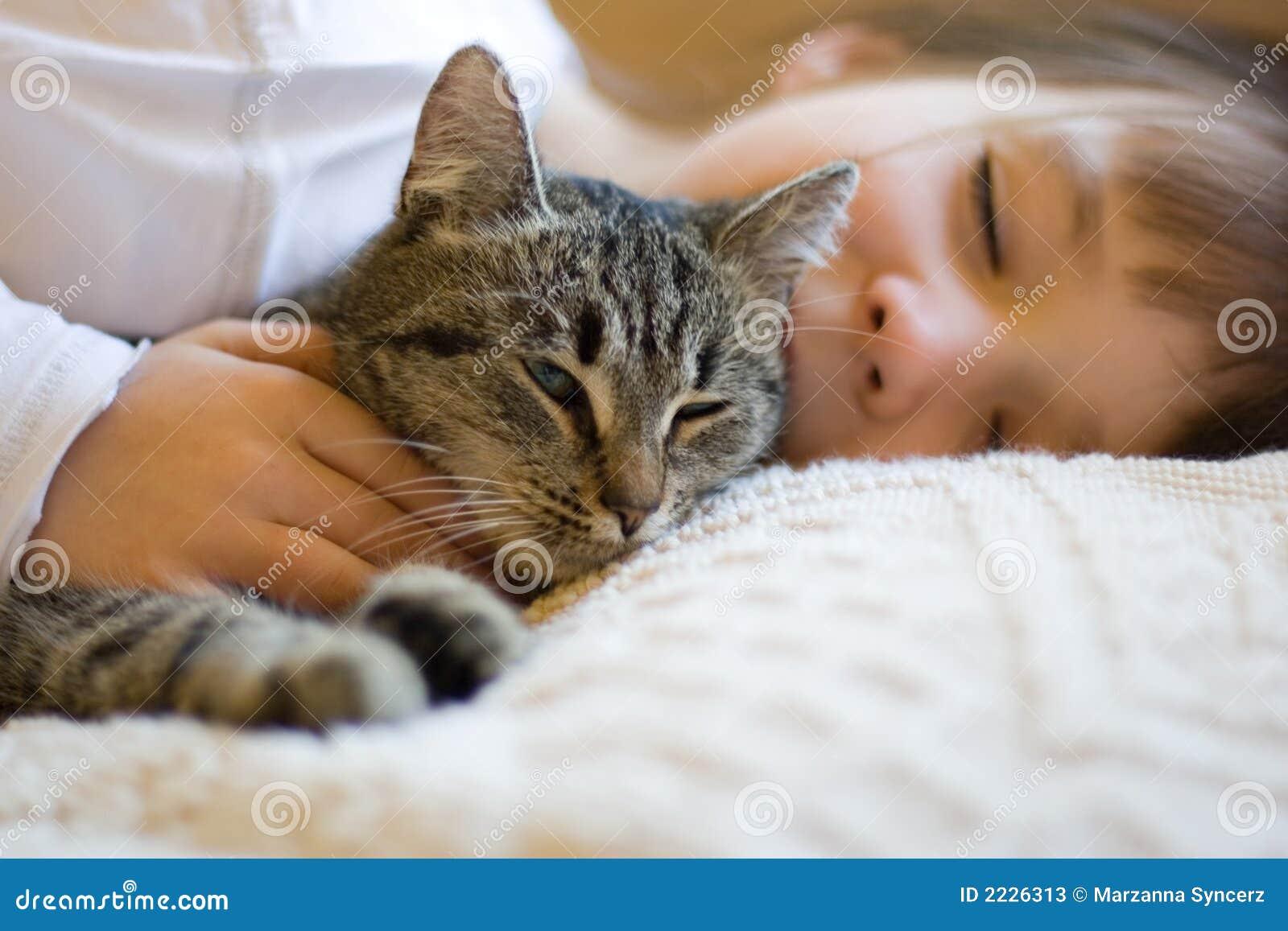 χαριτωμένο κορίτσι γατών κ&om
