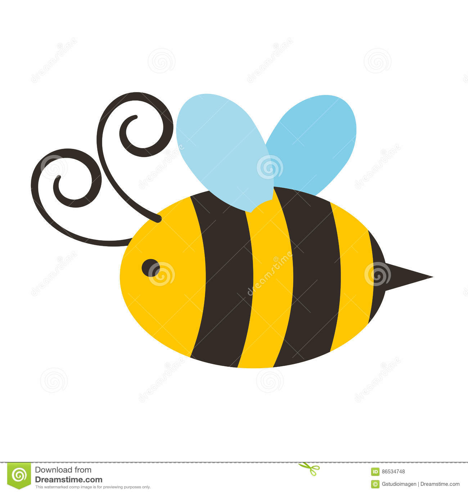 Χαριτωμένο πετώντας εικονίδιο μελισσών