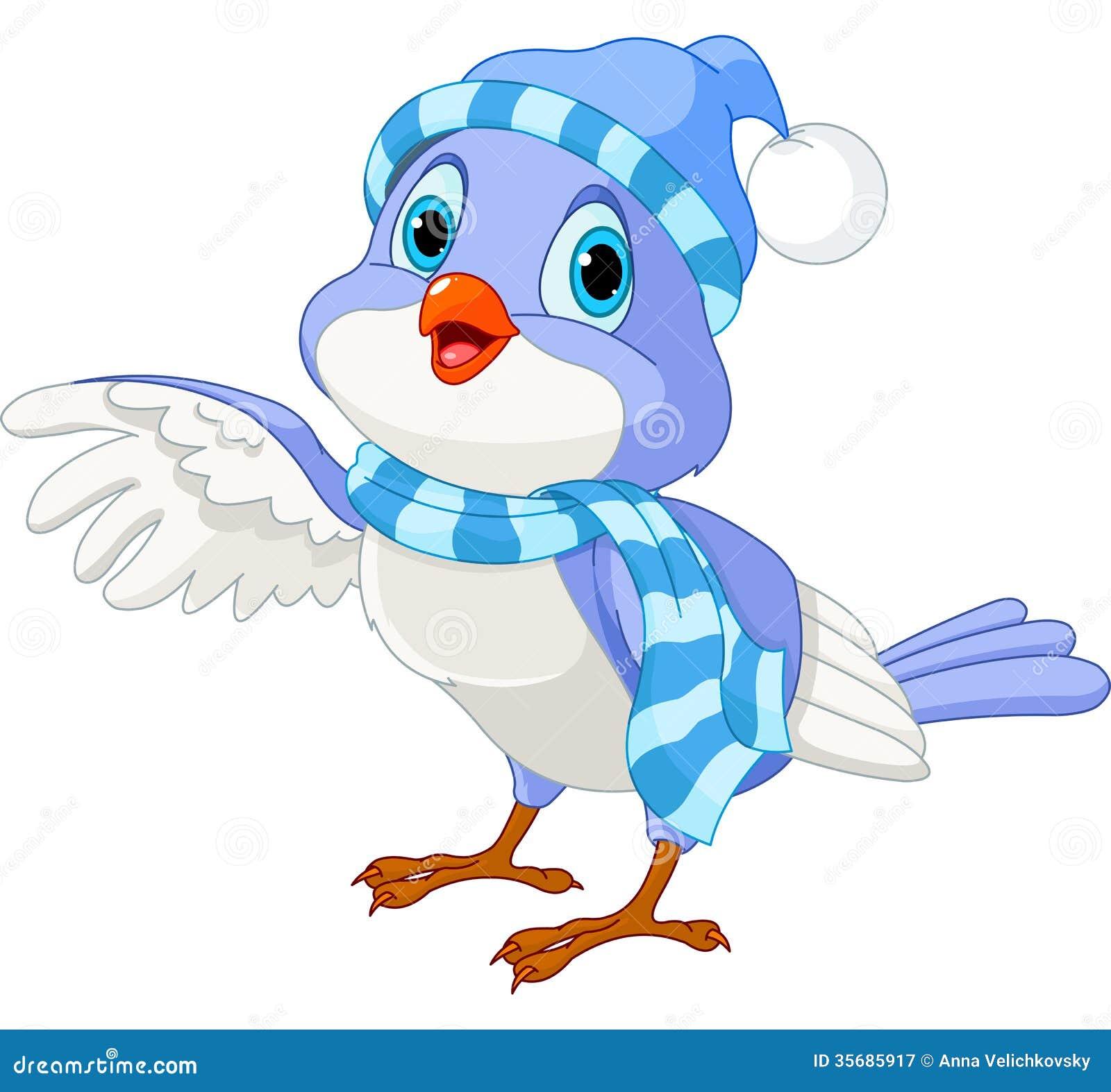 Χαριτωμένο χειμερινό πουλί