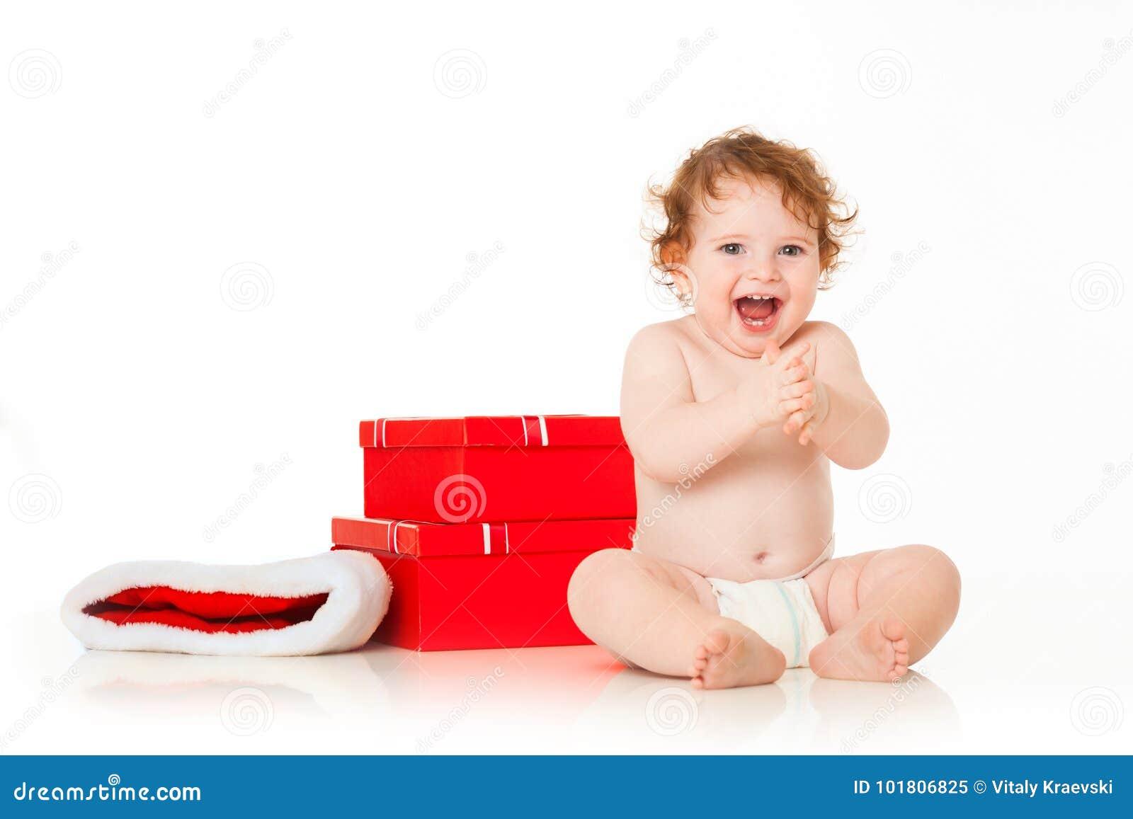 χαριτωμένο santa μωρών