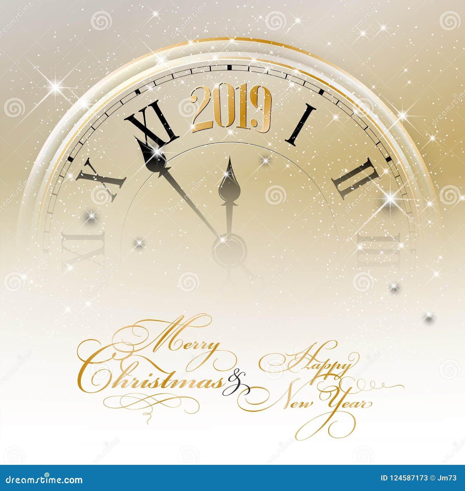 Χαρούμενα Χριστούγεννα και κάρτα καλής χρονιάς 2019