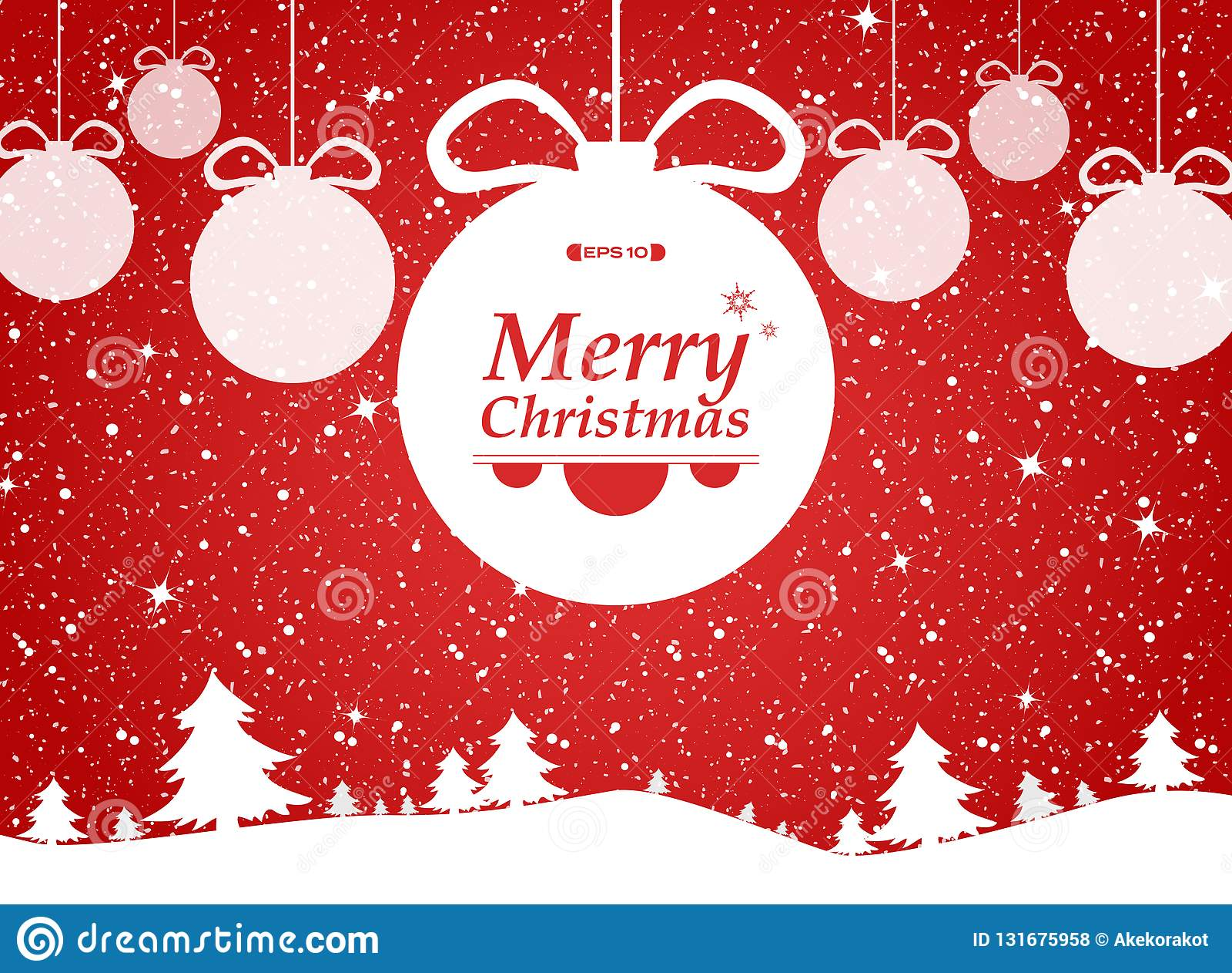Χαρούμενα Χριστούγεννα του κόκκινου υποβάθρου στα δώρα δασών και χιονιών