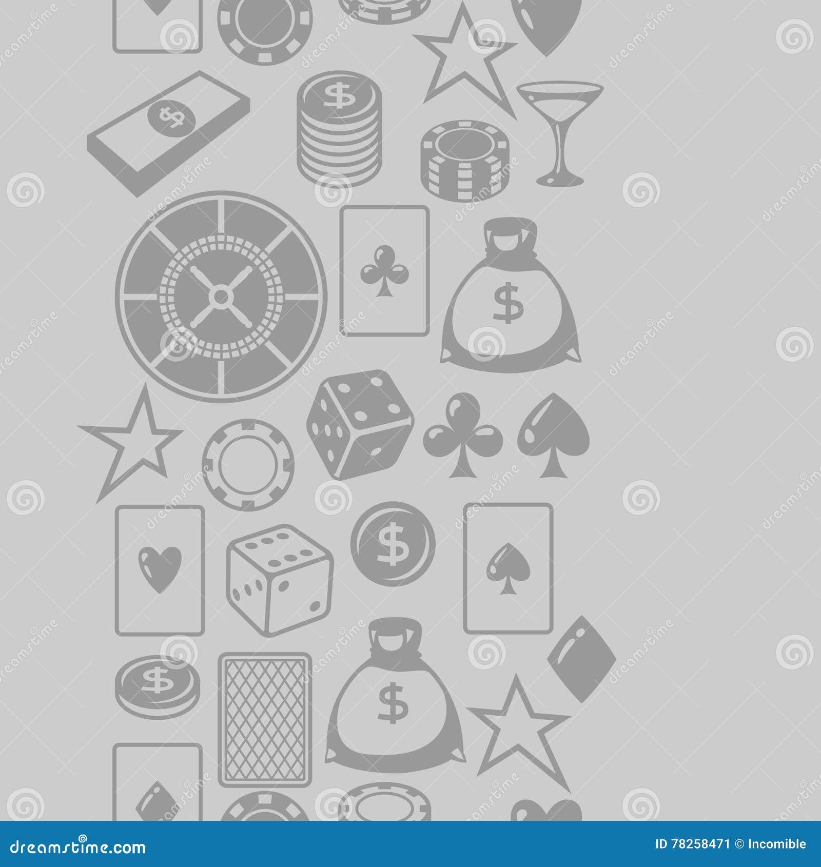 Χαρτοπαικτική λέσχη που παίζει το άνευ ραφής σχέδιο με τα αντικείμενα παιχνιδιών