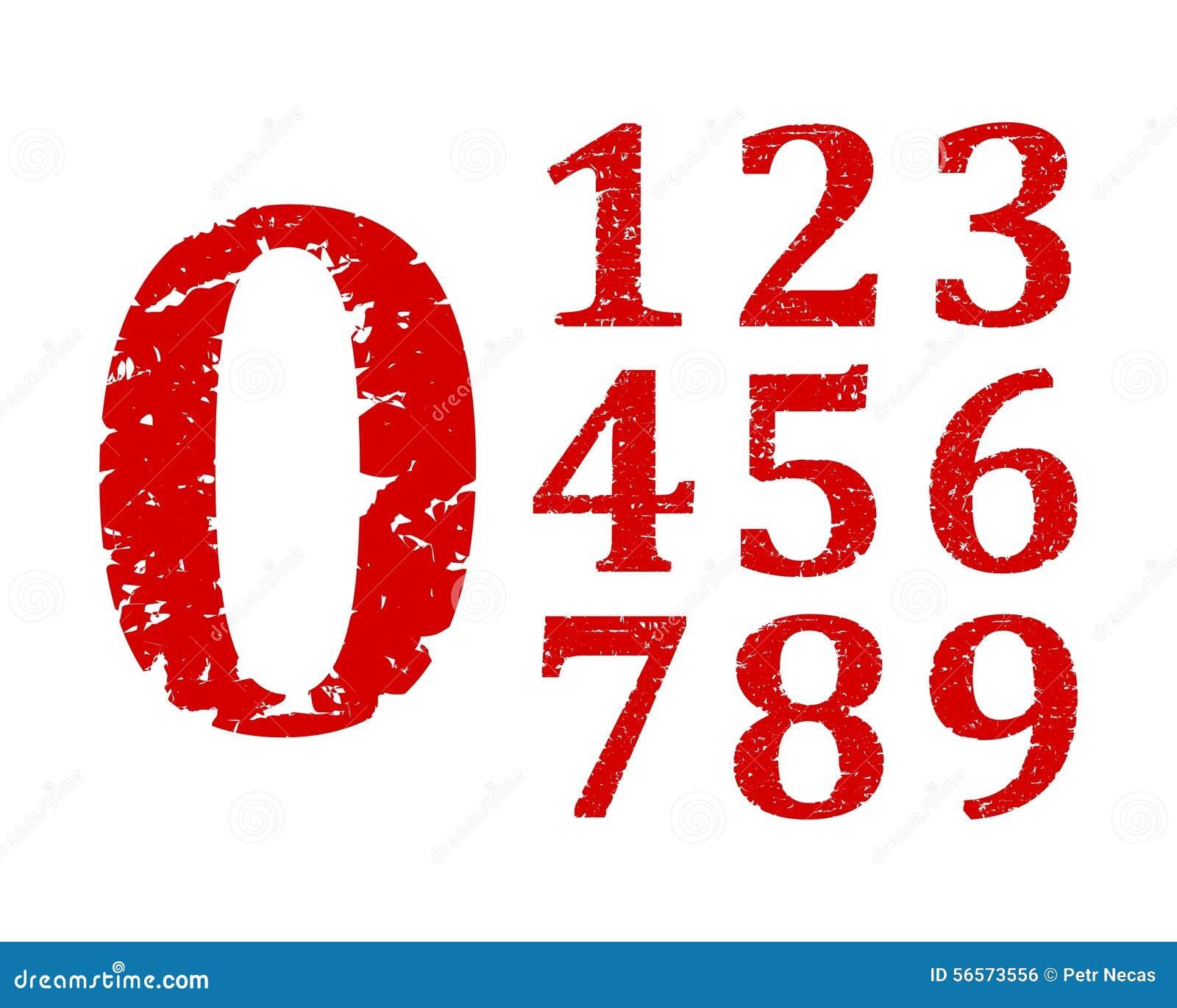 Download Χαλασμένοι κόκκινοι αριθμοί Διανυσματική απεικόνιση - εικονογραφία από σύνολο, συλλογή: 56573556