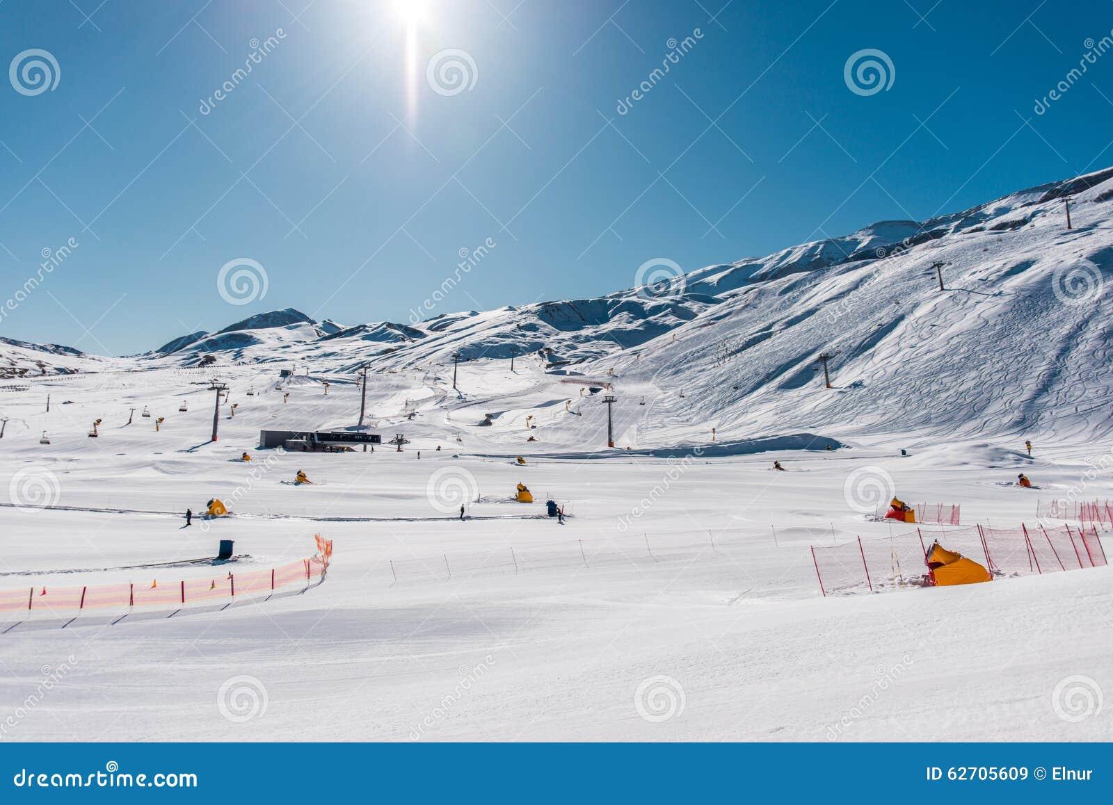 Χειμερινά βουνά στην περιοχή Gusar του Αζερμπαϊτζάν