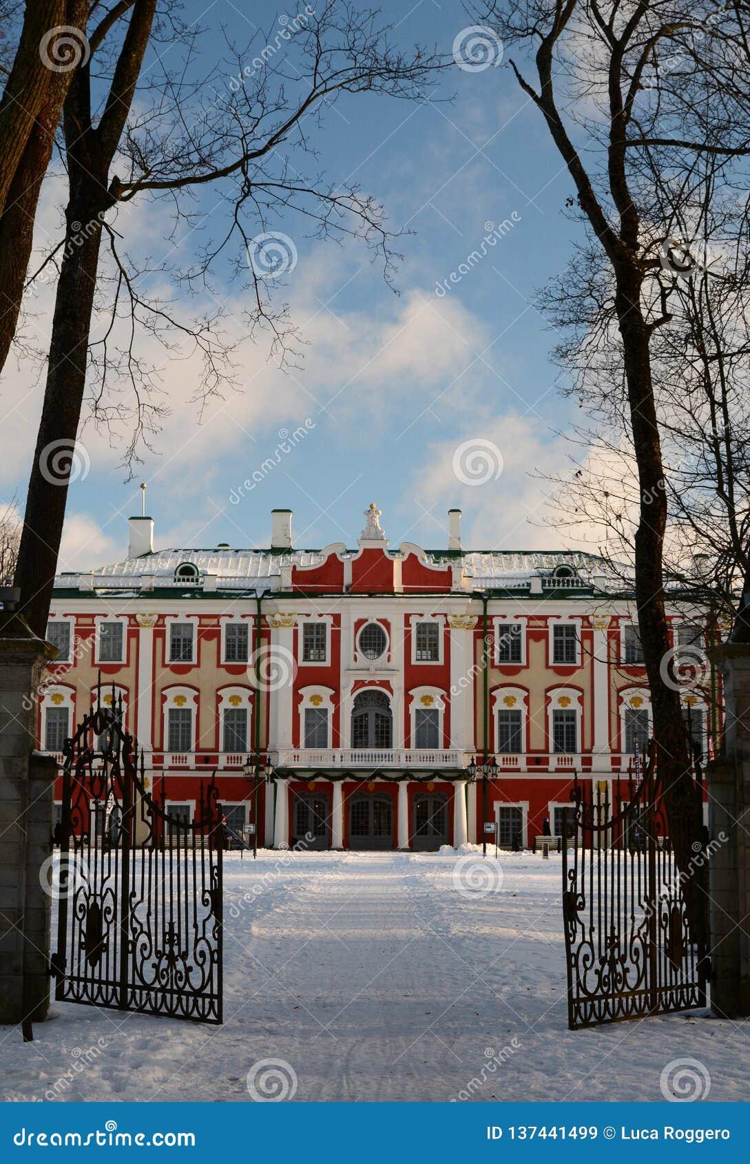 Χειμερινή άποψη του παλατιού Kadriorg Ταλίν Εσθονία
