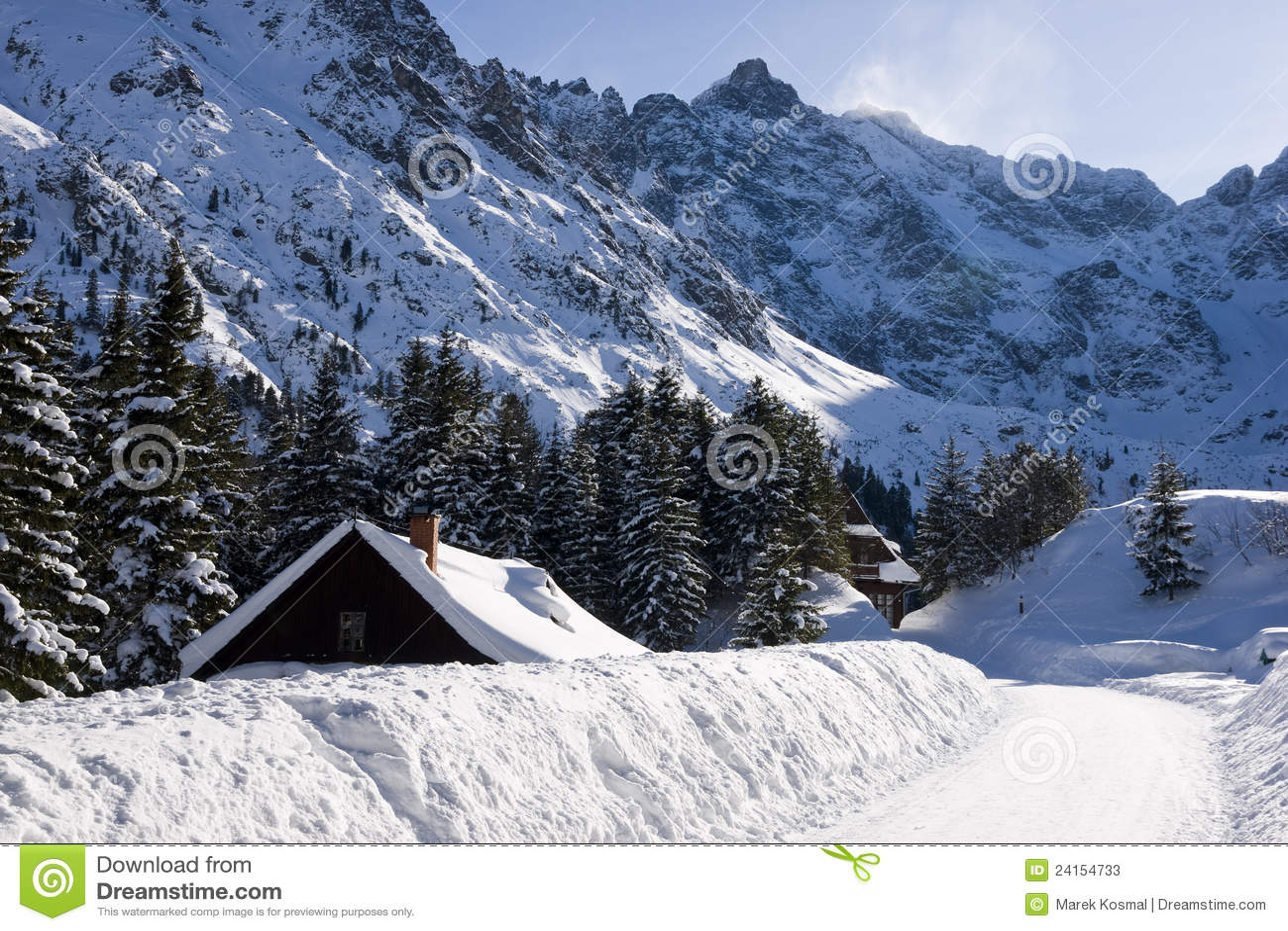 Στοκ φωτογραφίες: χειμώνας tatra τοπίου