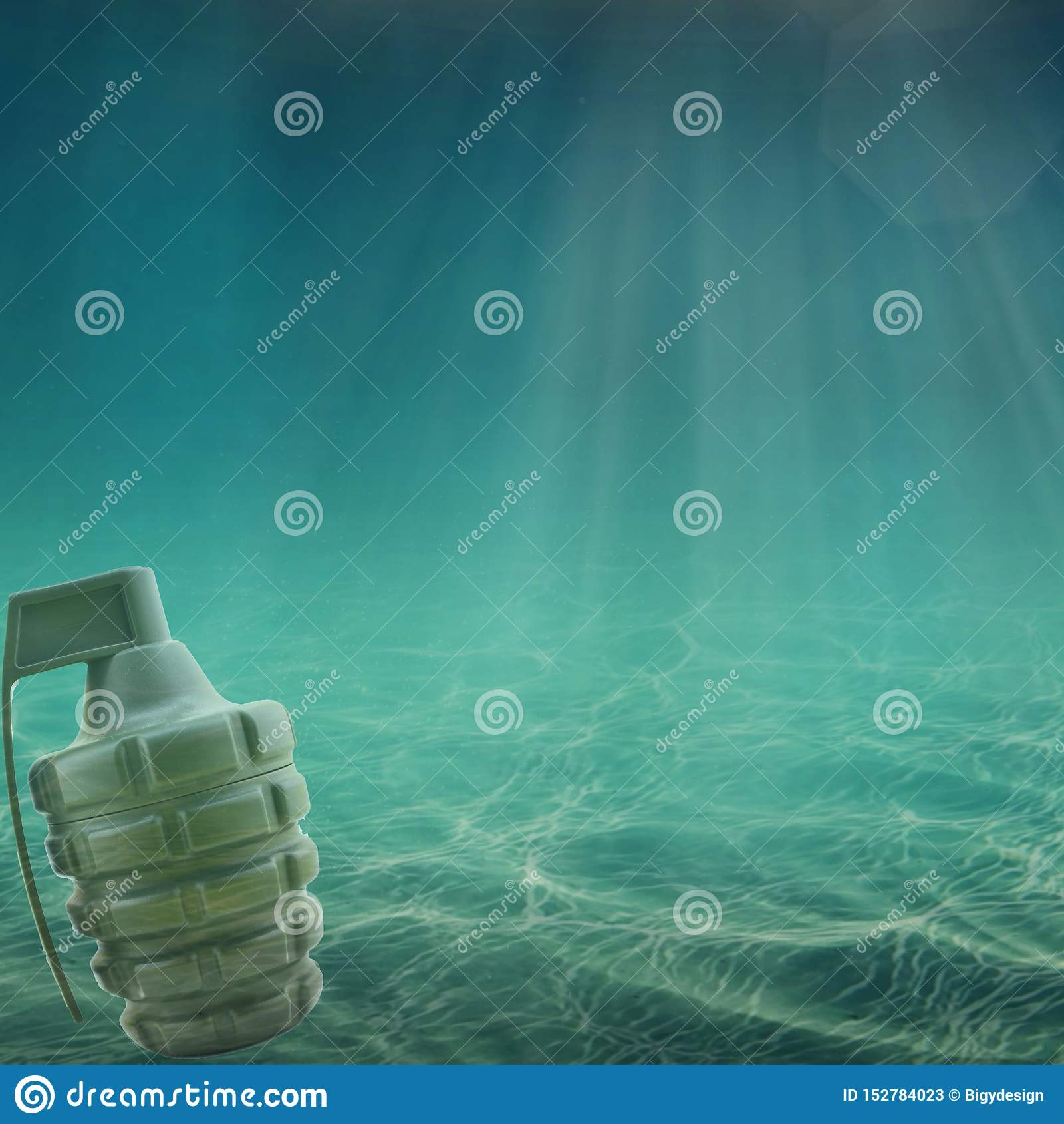 Χειροβομβίδα στη θάλασσα ή τον ωκεανό Πόλεμος πετρελαίου