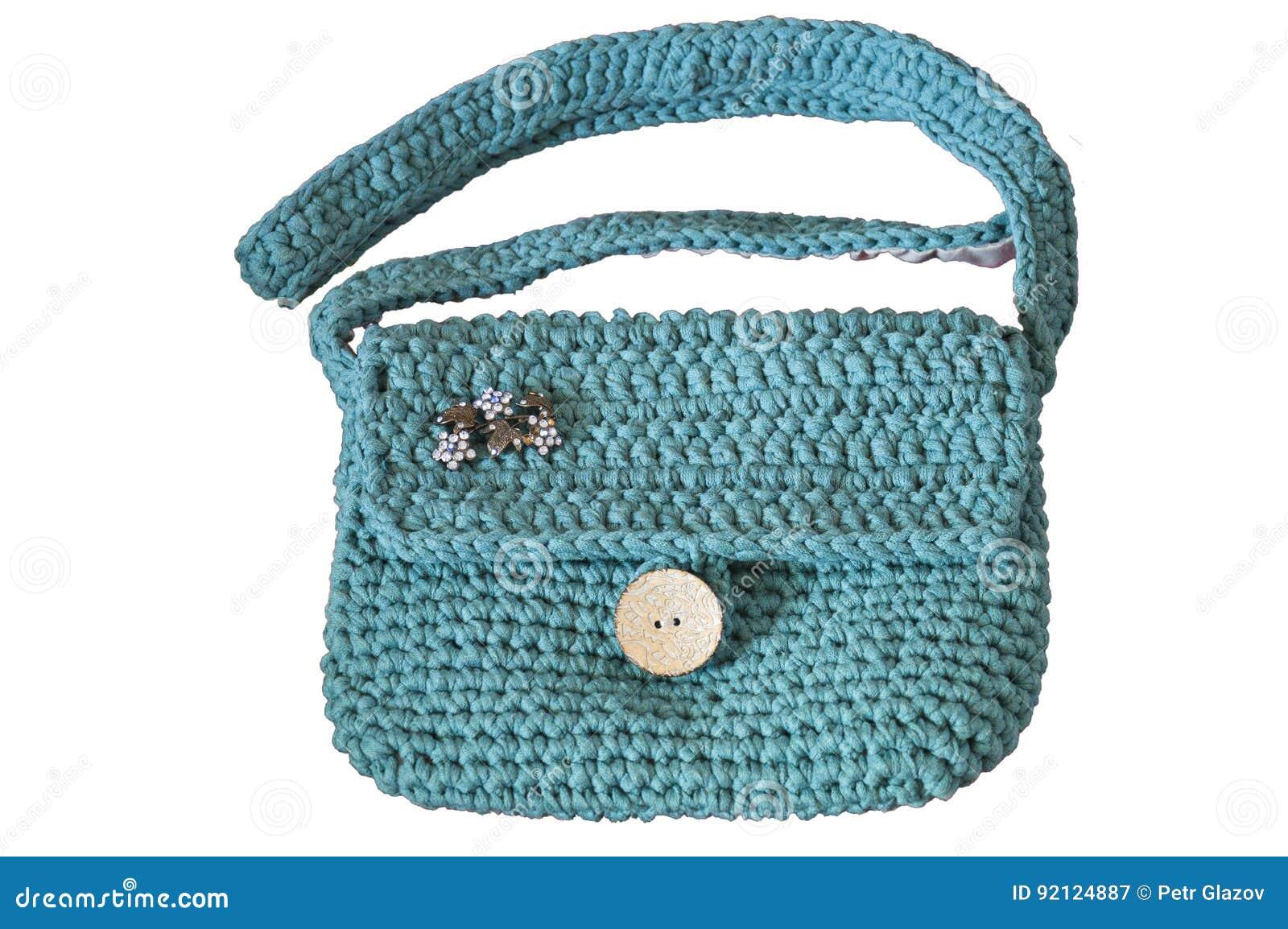 289dc2b82e6b Χειροποίητη τσάντα μαλλιού που απομονώνεται στο λευκό Στοκ Εικόνα ...