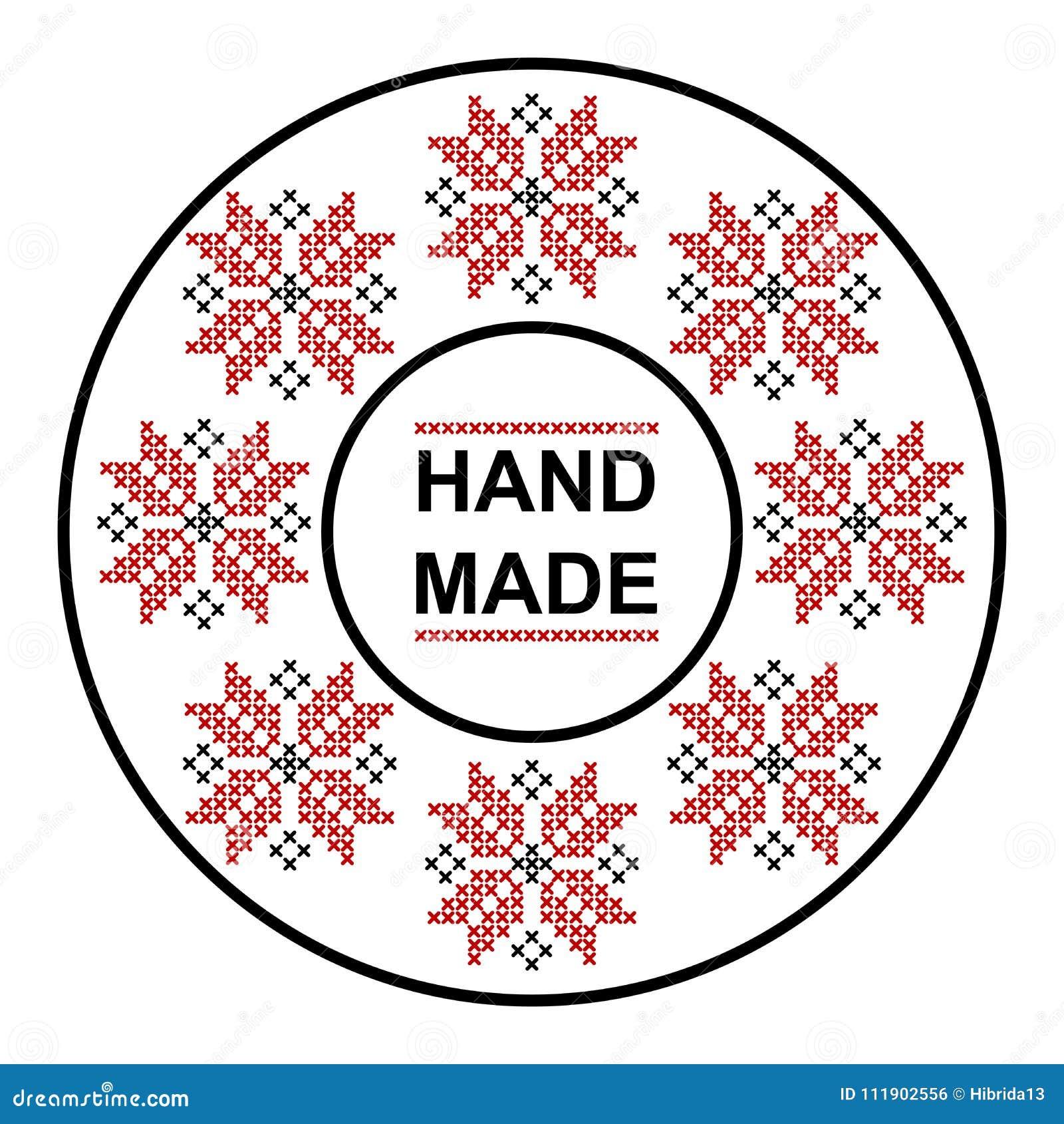 Χειροποίητο στρογγυλό πλαίσιο με την παραδοσιακή ρουμανική διακόσμηση