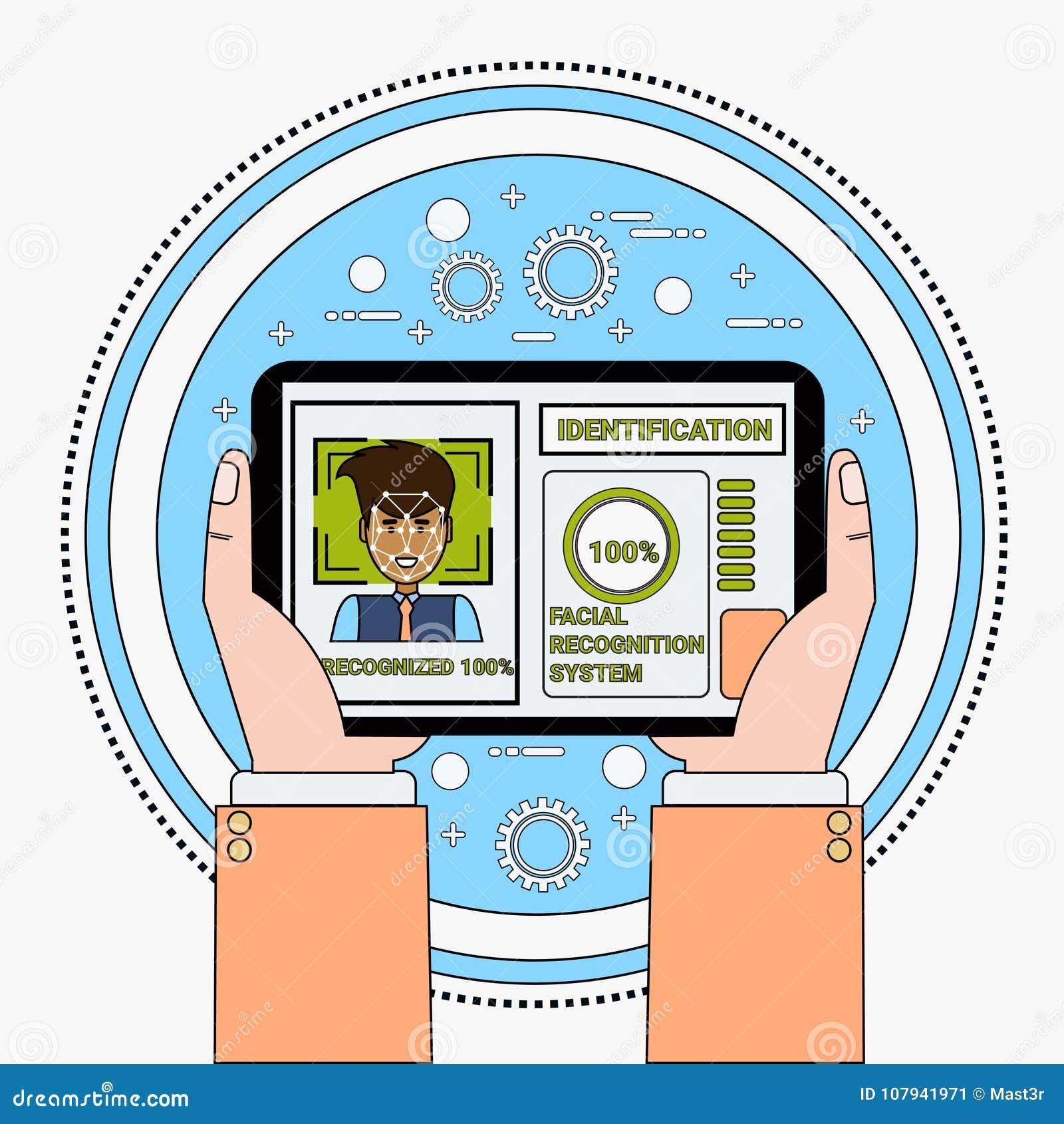 Χεριών εκμετάλλευσης ψηφιακός ταμπλετών προσδιορισμός Biometrical συστημάτων αναγνώρισης και προσδιορισμού προσώπου χρηστών ανίχν