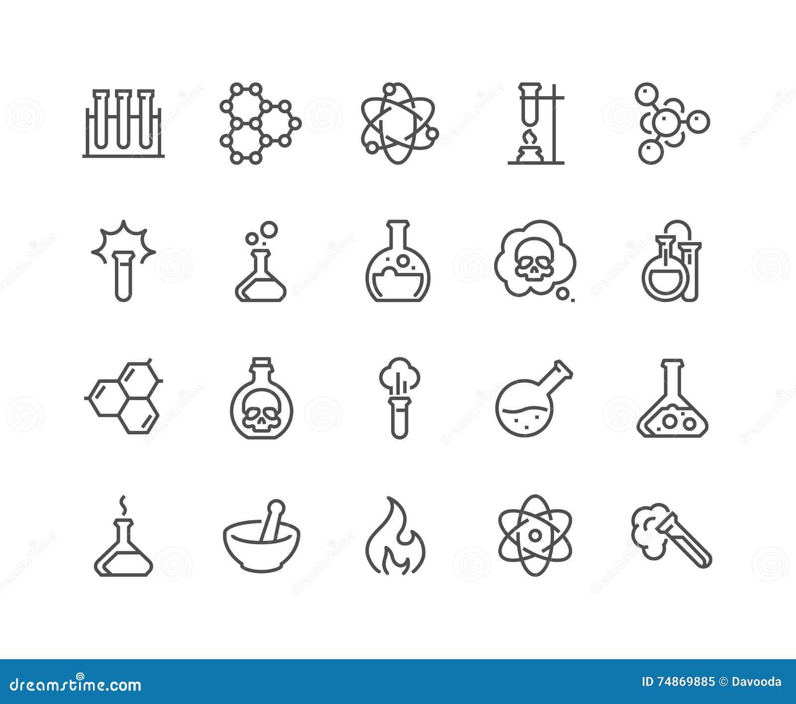 Χημικά εικονίδια γραμμών