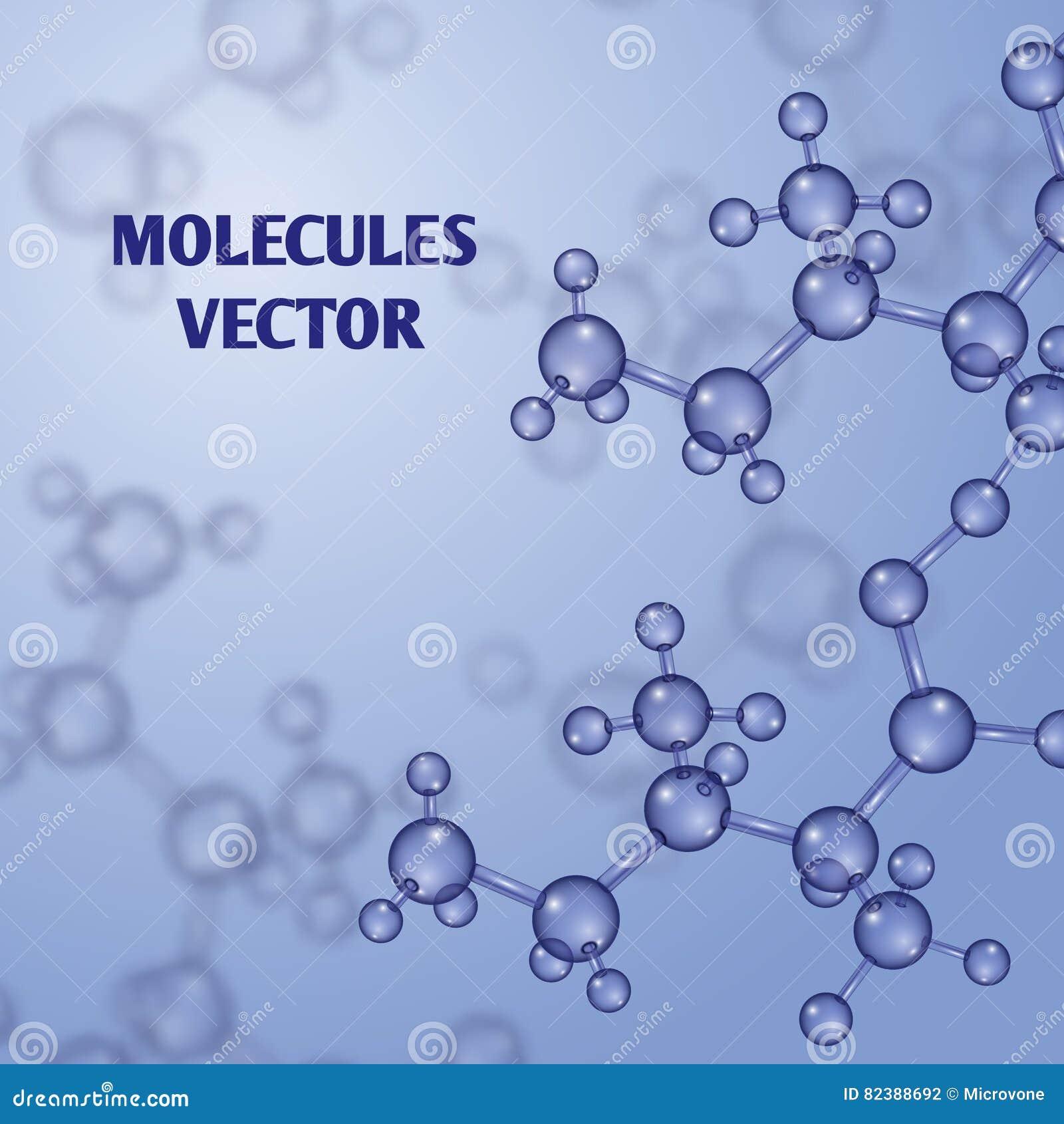 Χημικό διανυσματικό υπόβαθρο νανοτεχνολογίας με τα τρισδιάστατα μακρο μόρια