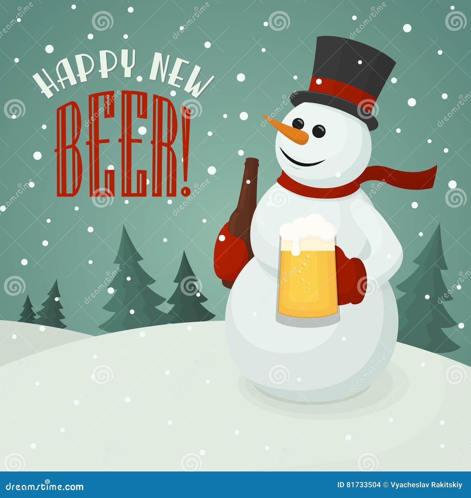 Χιονάνθρωπος με την κούπα μπύρας