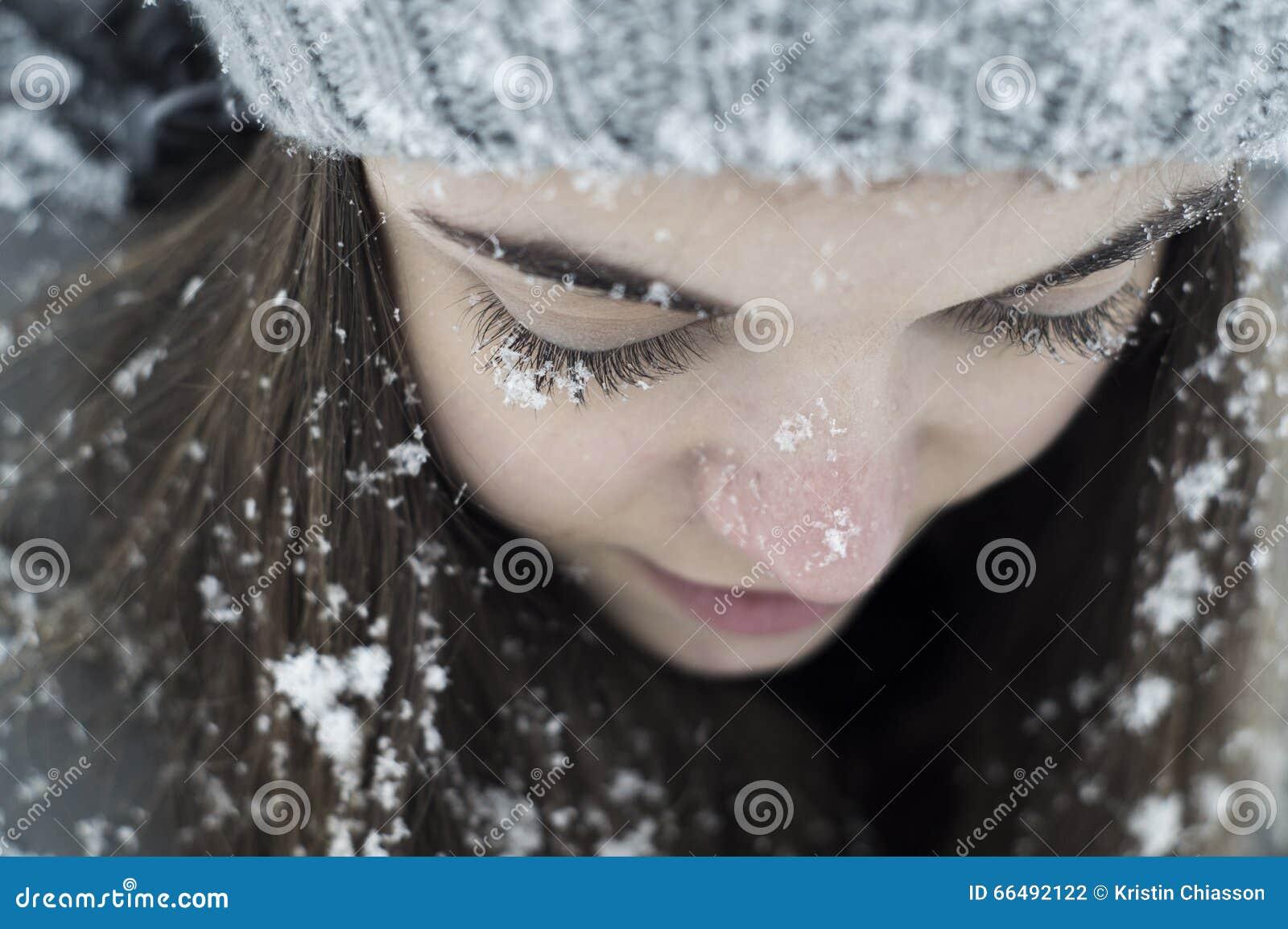 Χιονισμένα eyelashes κοριτσιών
