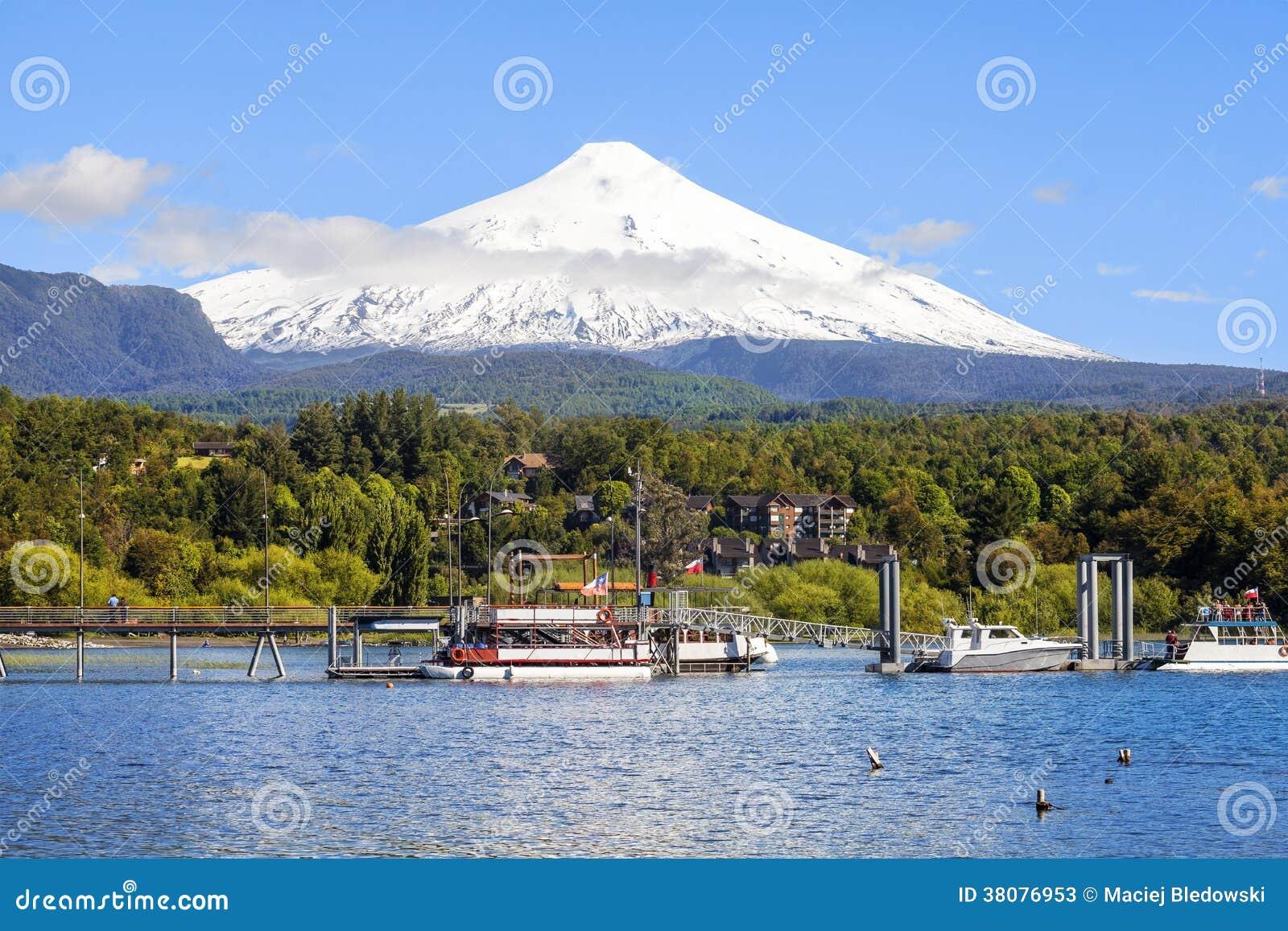 Χιονισμένο ηφαίστειο Villarica, Χιλή