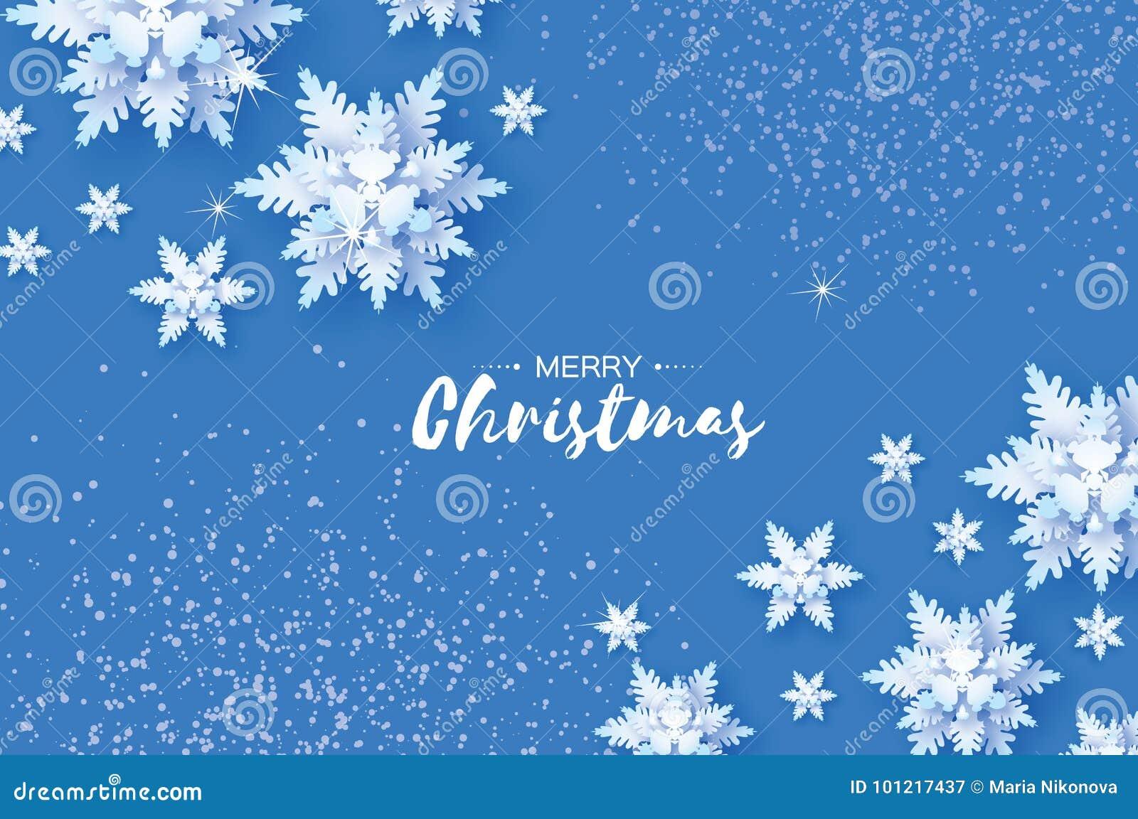 Χιονοπτώσεις Origami Κάρτα χαιρετισμών Χαρούμενα Χριστούγεννας Η Λευκή Βίβλος έκοψε τη νιφάδα χιονιού καλή χρονιά Χειμερινά snowf