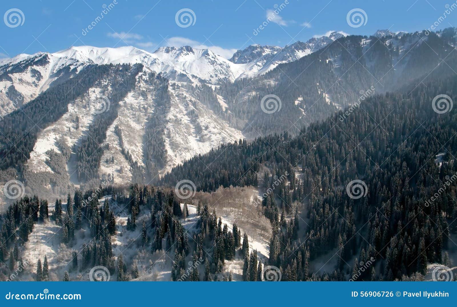 Χιονώδης χειμώνας στο βουνό