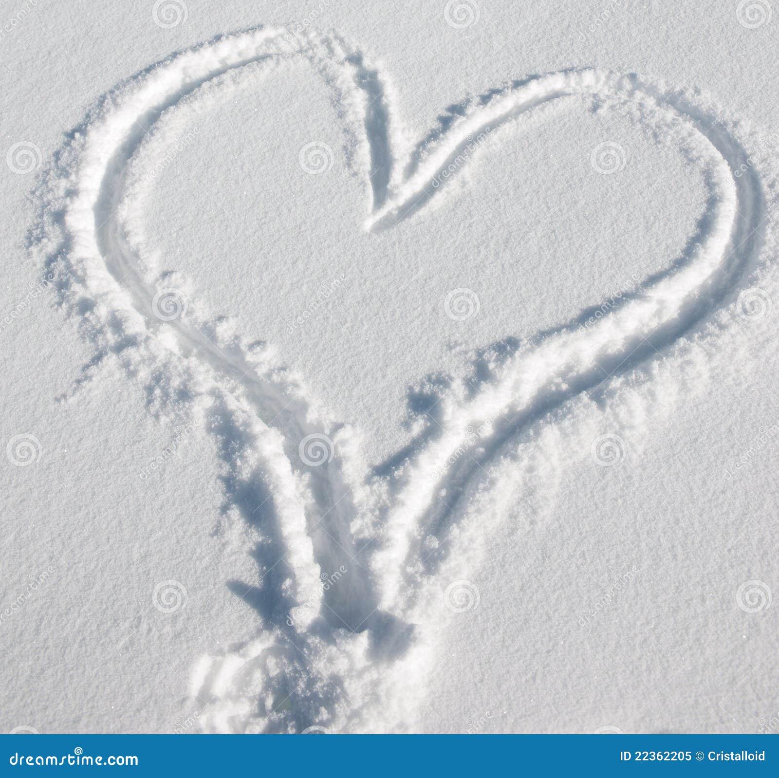 χιόνι καρδιών