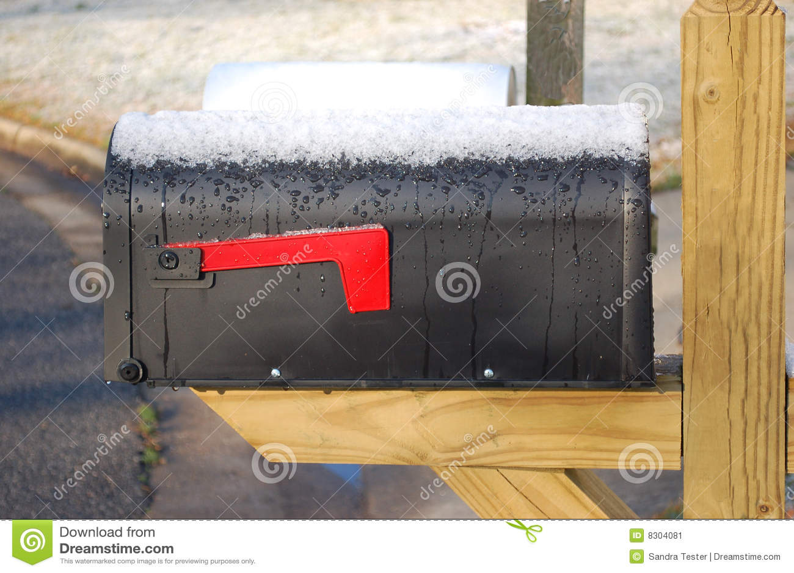 χιόνι ταχυδρομικών θυρίδω&