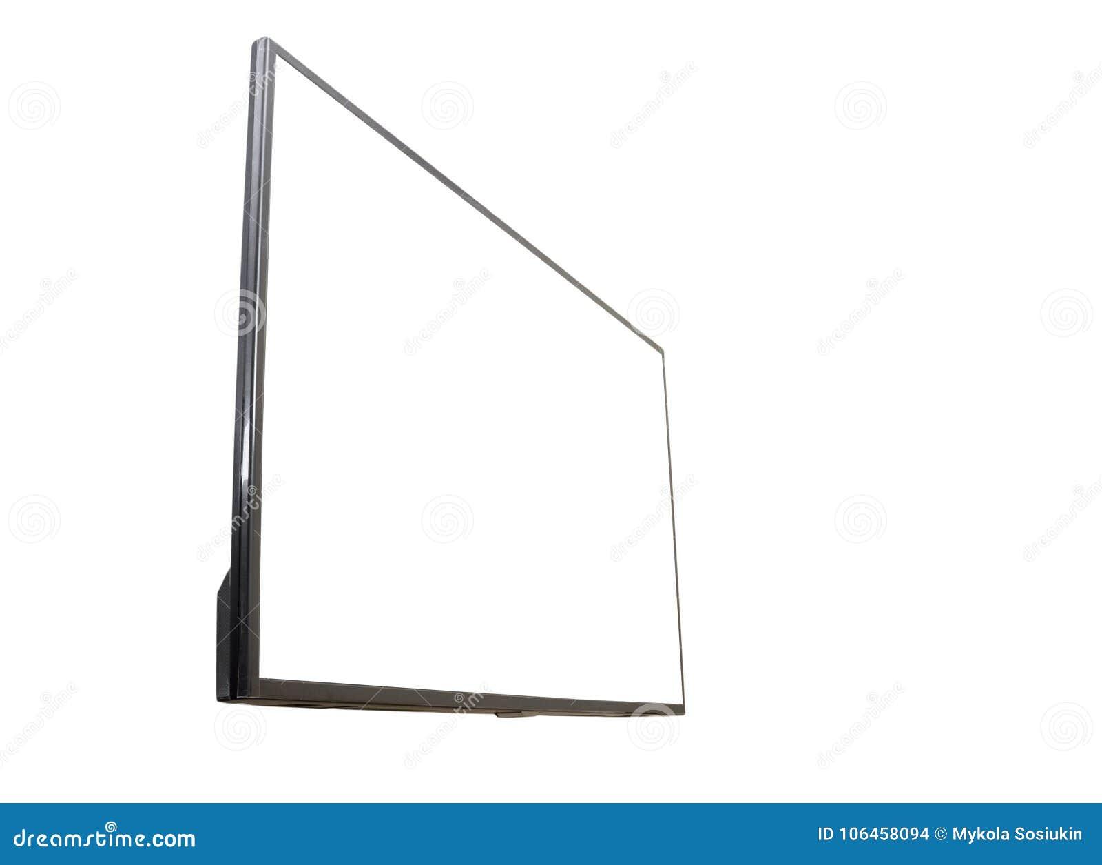 Χλεύη προτύπων τηλεοπτικής οθόνης TV των μαύρων οδηγήσεων επάνω, κενό στο άσπρο υπόβαθρο