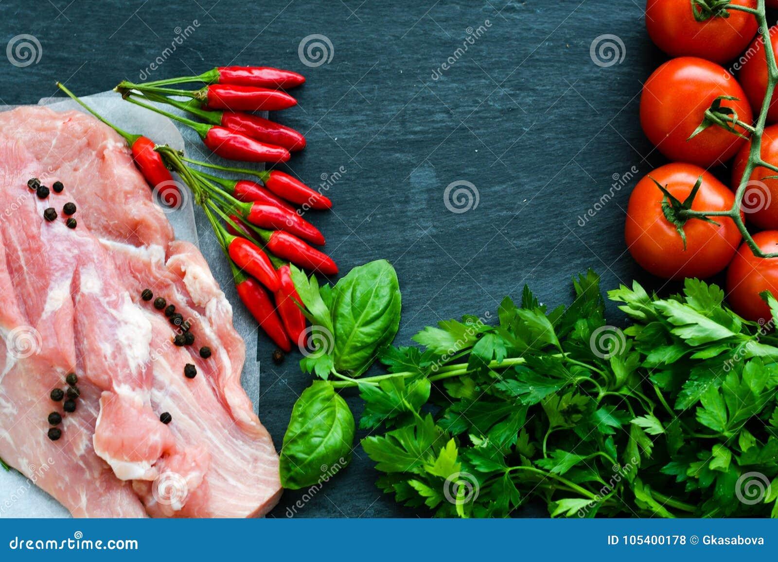 Download χοιρινό κρέας κρέατος ακα στοκ εικόνες. εικόνα από πράσινος - 105400178