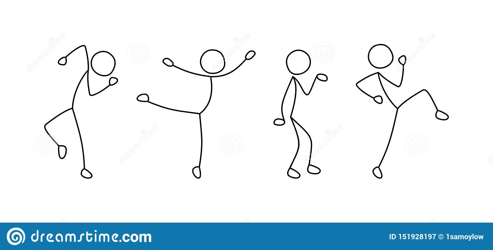 Χορεύοντας άνθρωποι, ελεύθερο σχέδιο, σκίτσο