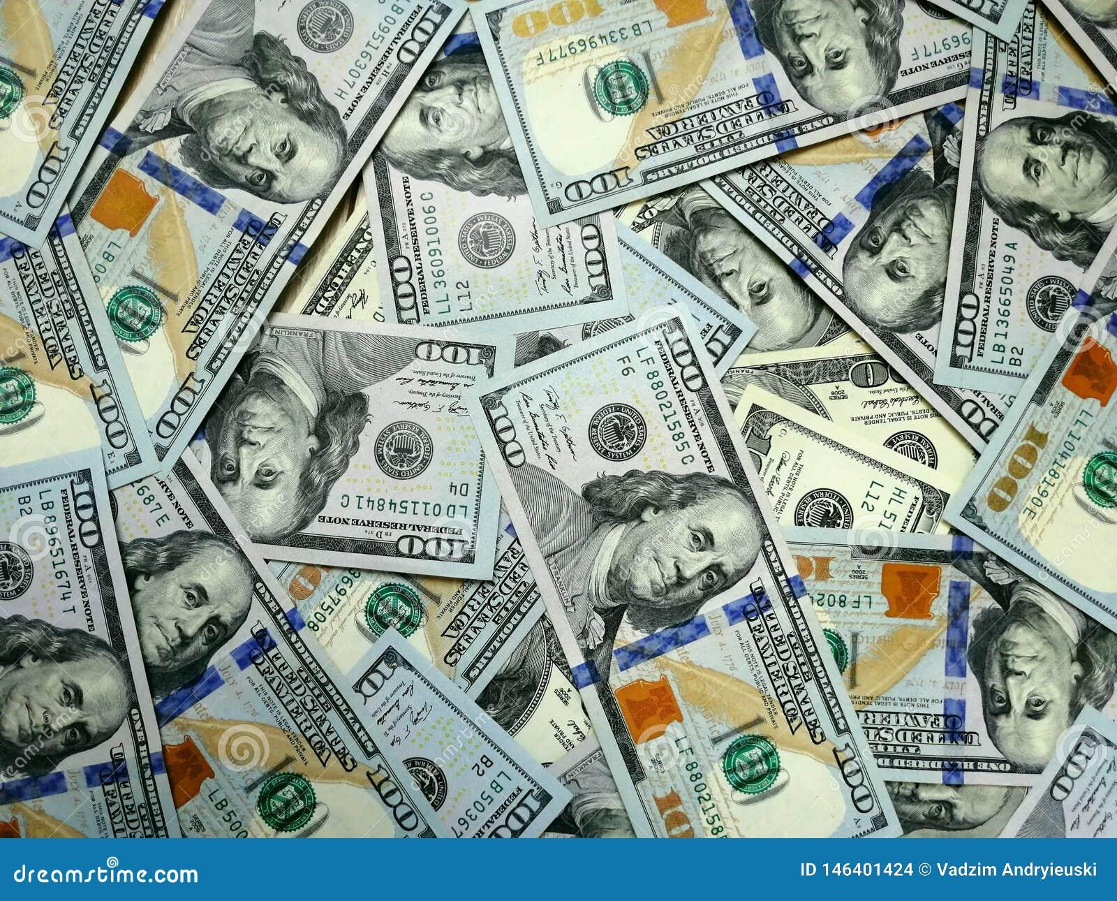 Χρήματα δολαρίων Υπόβαθρο μετρητών δολαρίων Τραπεζογραμμάτια χρημάτων δολαρίων