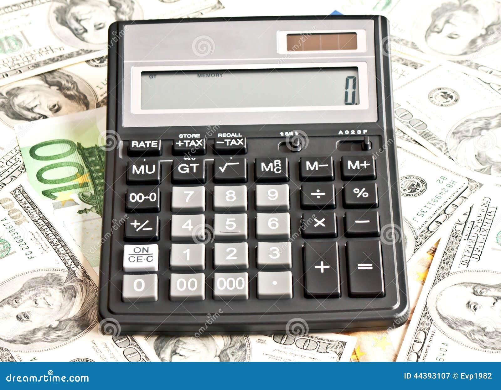 Χρήματα και υπολογιστής πέρα από το λευκό