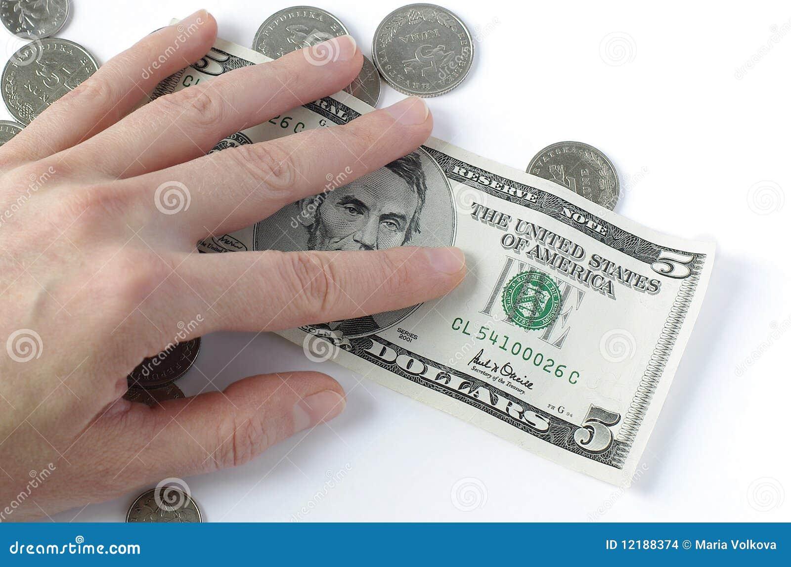 χρήματα χεριών κάτω
