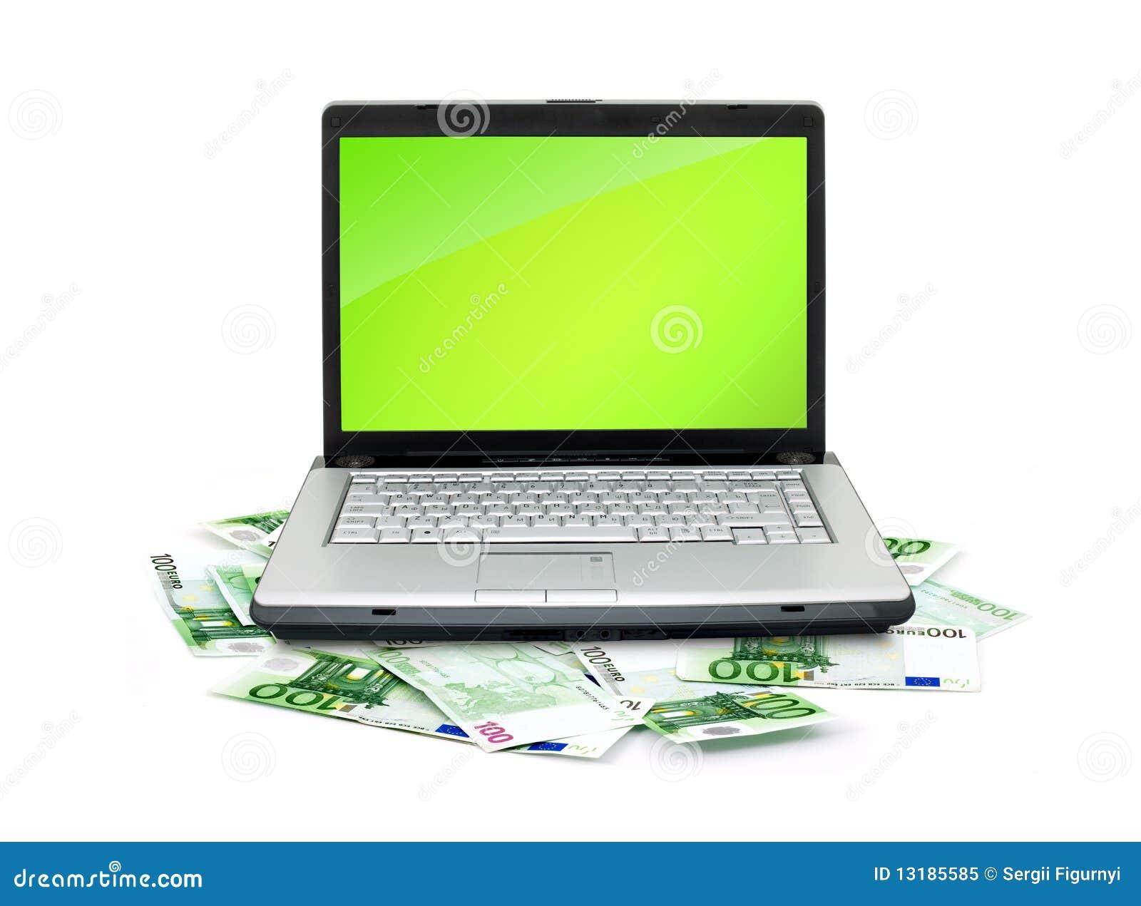 χρήματα lap-top ανοικτά