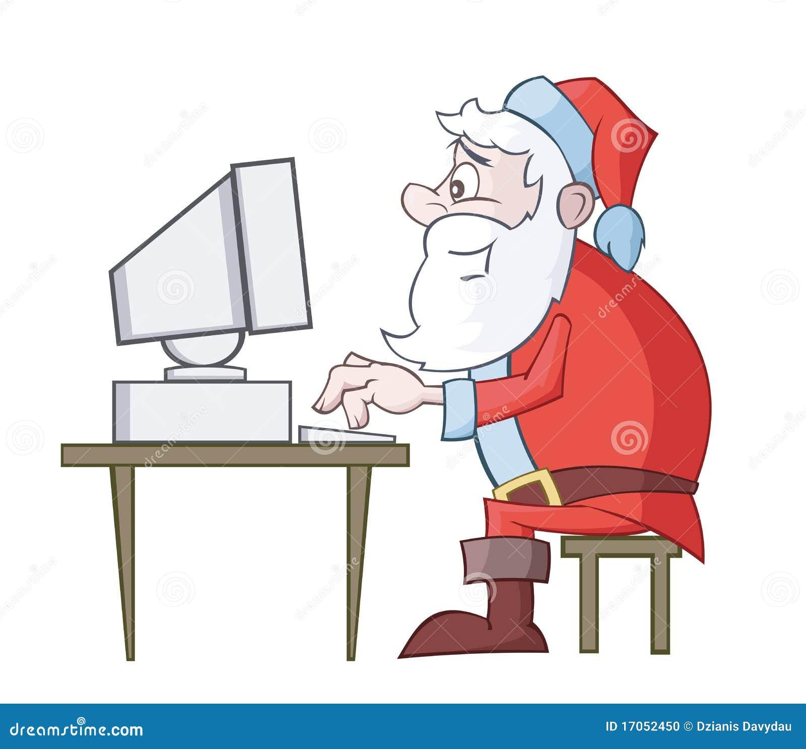 χρήση santa υπολογιστών Claus