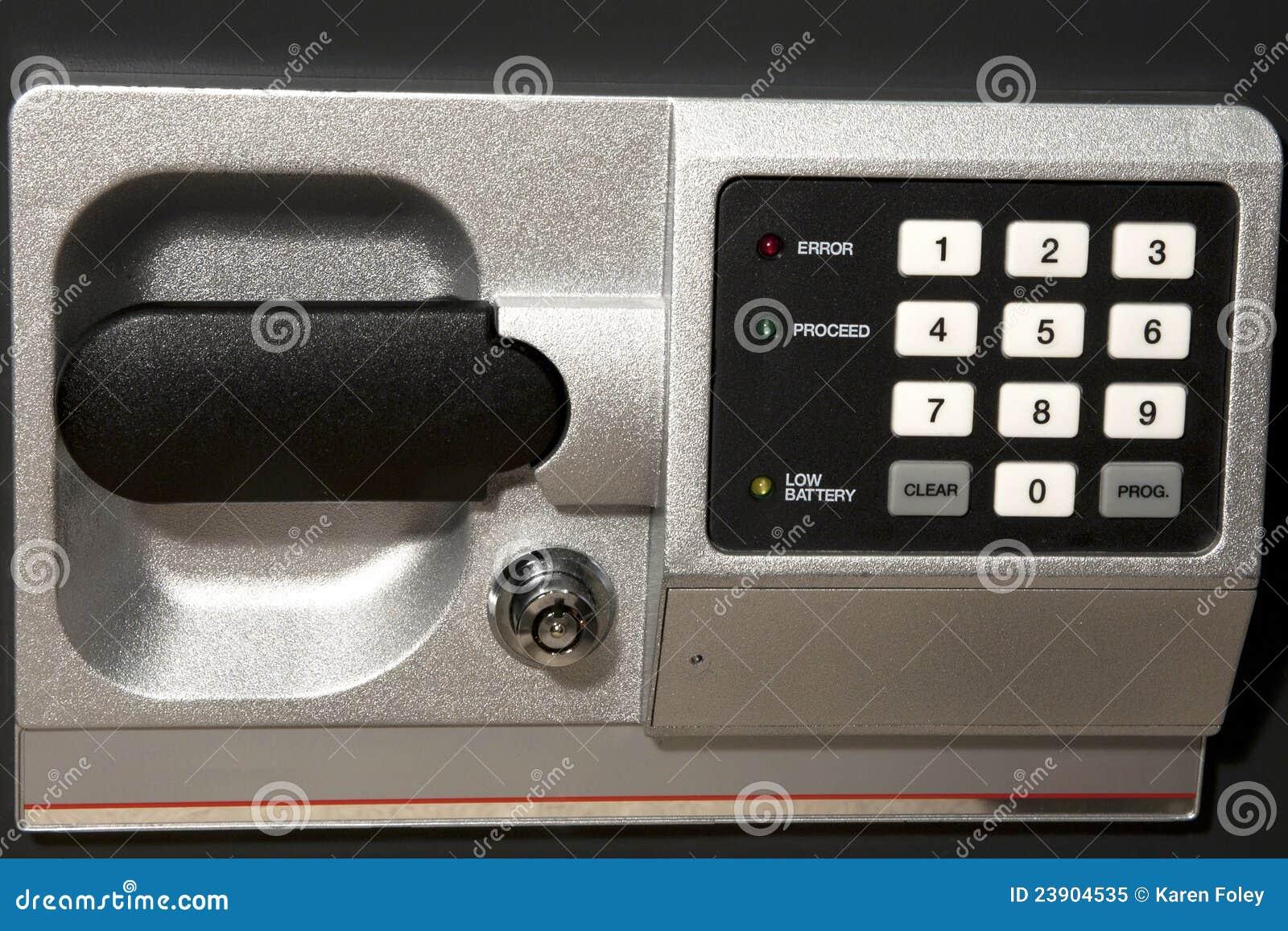 χρηματοκιβώτιο αριθμητικών πληκτρολογίων