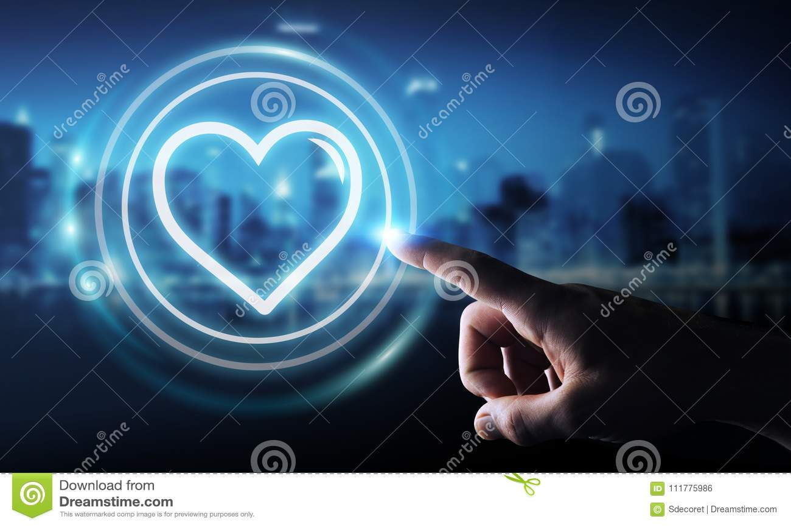 Χρησιμοποίηση επιχειρηματιών που χρονολογεί την εφαρμογή για να βρεθεί το σε απευθείας σύνδεση τρισδιάστατο rend αγάπης