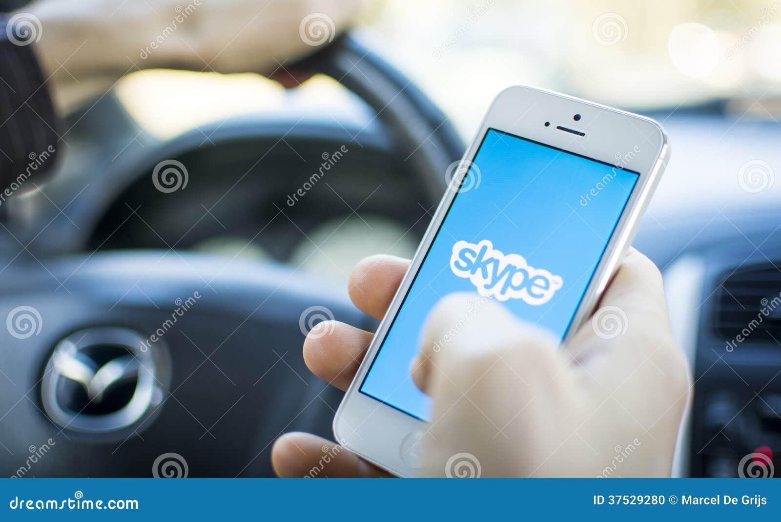 Χρησιμοποίηση Skype στο αυτοκίνητο στο iphone