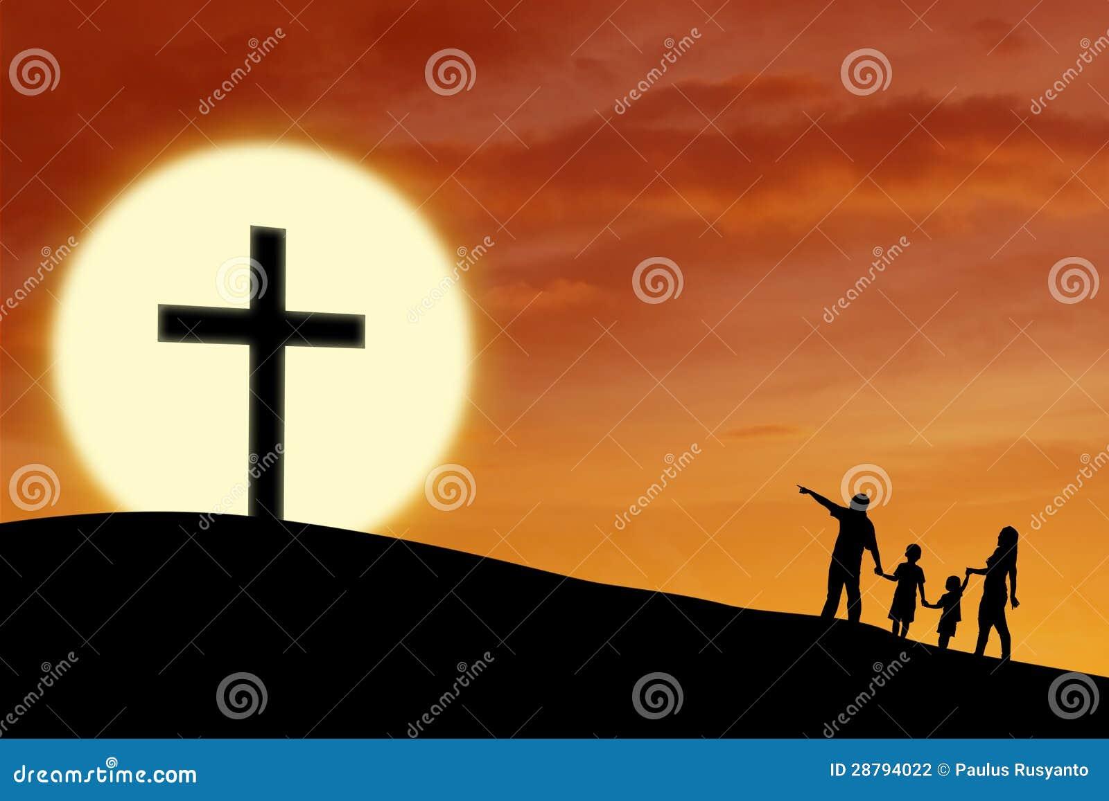 Χριστιανική οικογένεια στο σταυρό