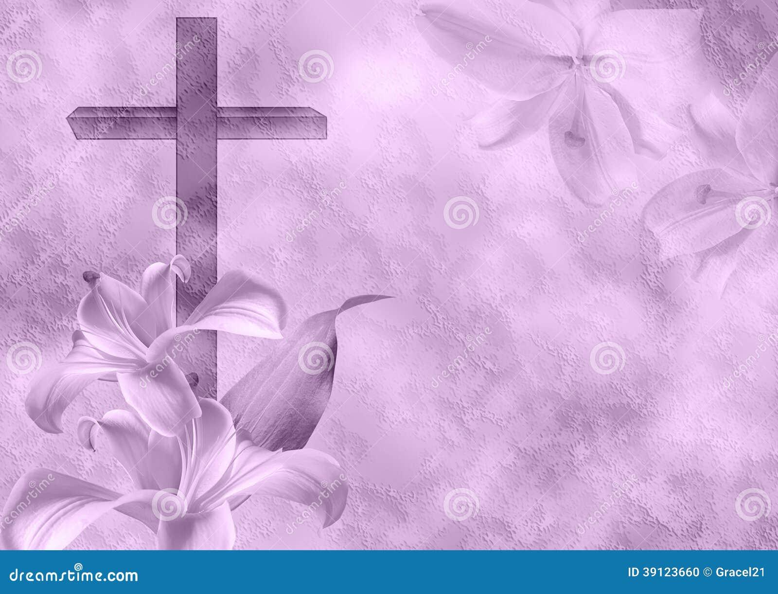 Χριστιανικό λουλούδι σταυρών και κρίνων