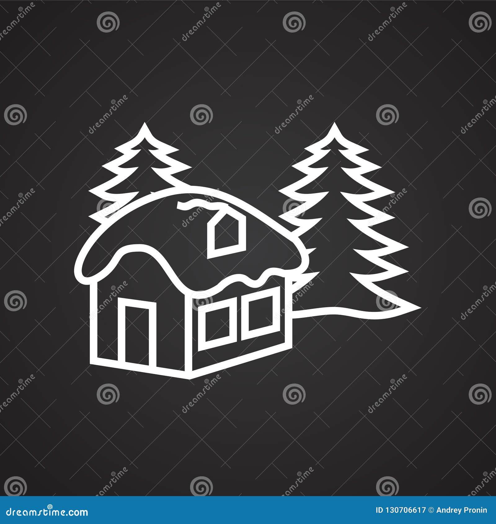 Χριστουγέννων λεπτός ιδιωτικός πυροσβεστικός σωλήνας μυστηρίου δασικός στο μαύρο υπόβαθρο
