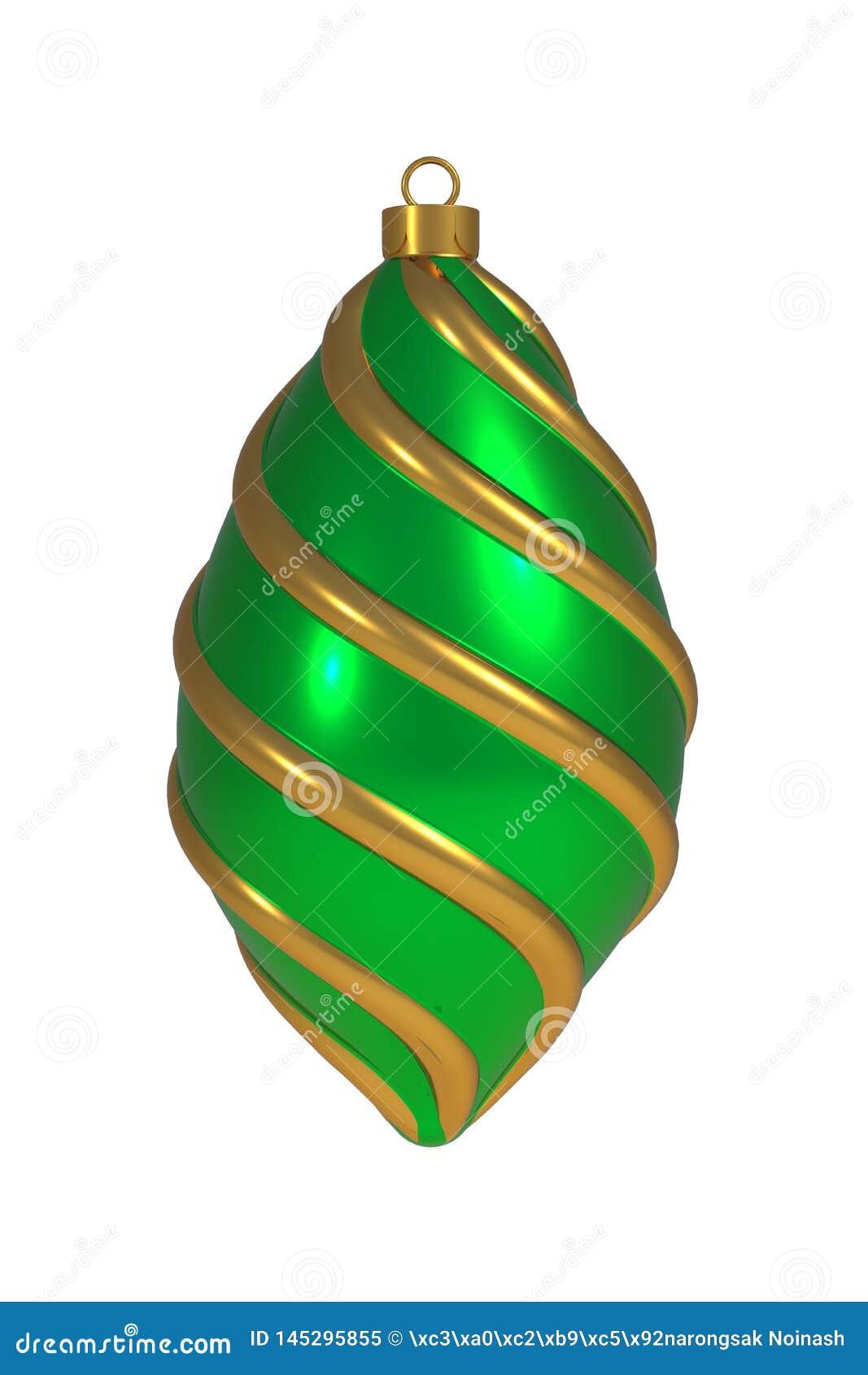 Χριστουγέννων σφαιρών Παραμονής Πρωτοχρονιάς διακοσμήσεων χρυσό πράσινο συνελίξεων γραμμών αναμνηστικό στολισμών μπιχλιμπιδιών wi