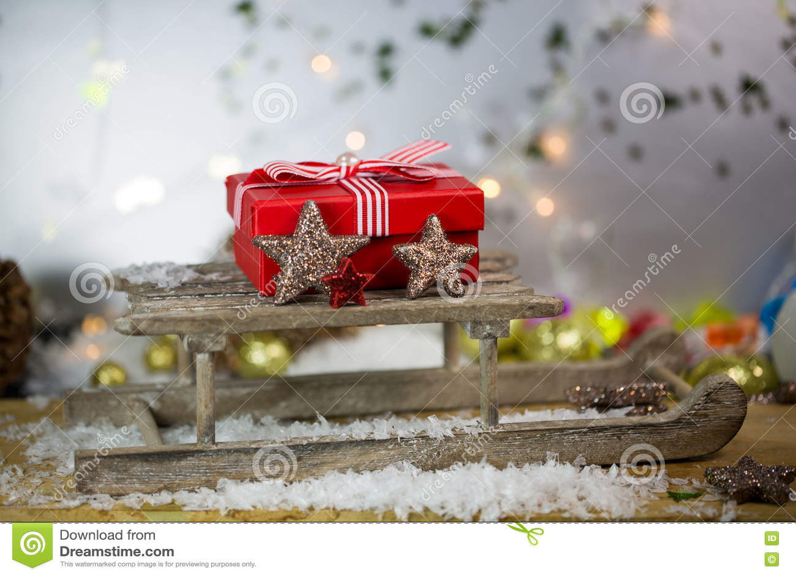 Χριστουγεννιάτικο δώρο στο έλκηθρο